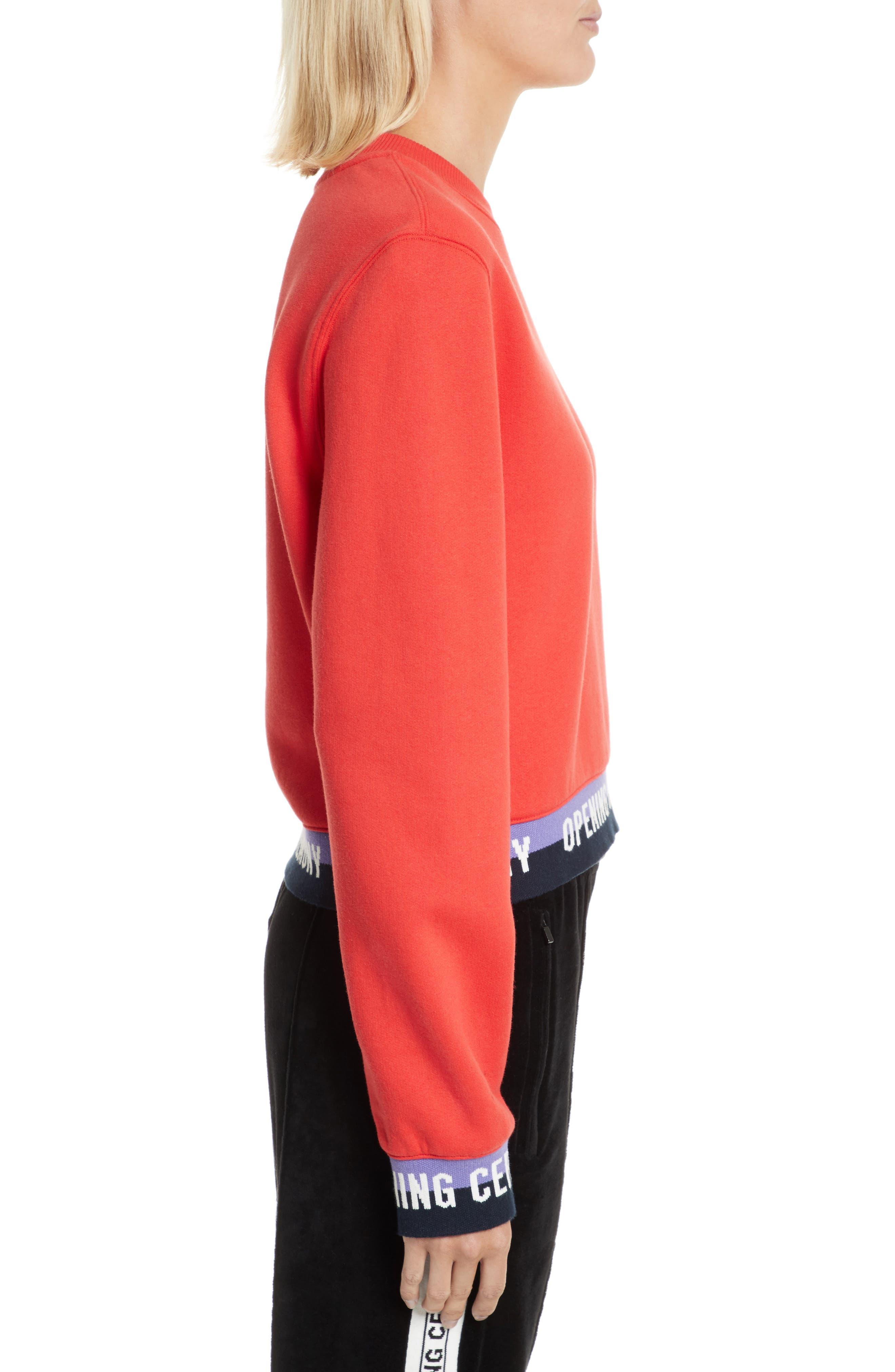 Alternate Image 3  - Opening Ceremony Elastic Logo Crop Sweatshirt (Limited Edition)