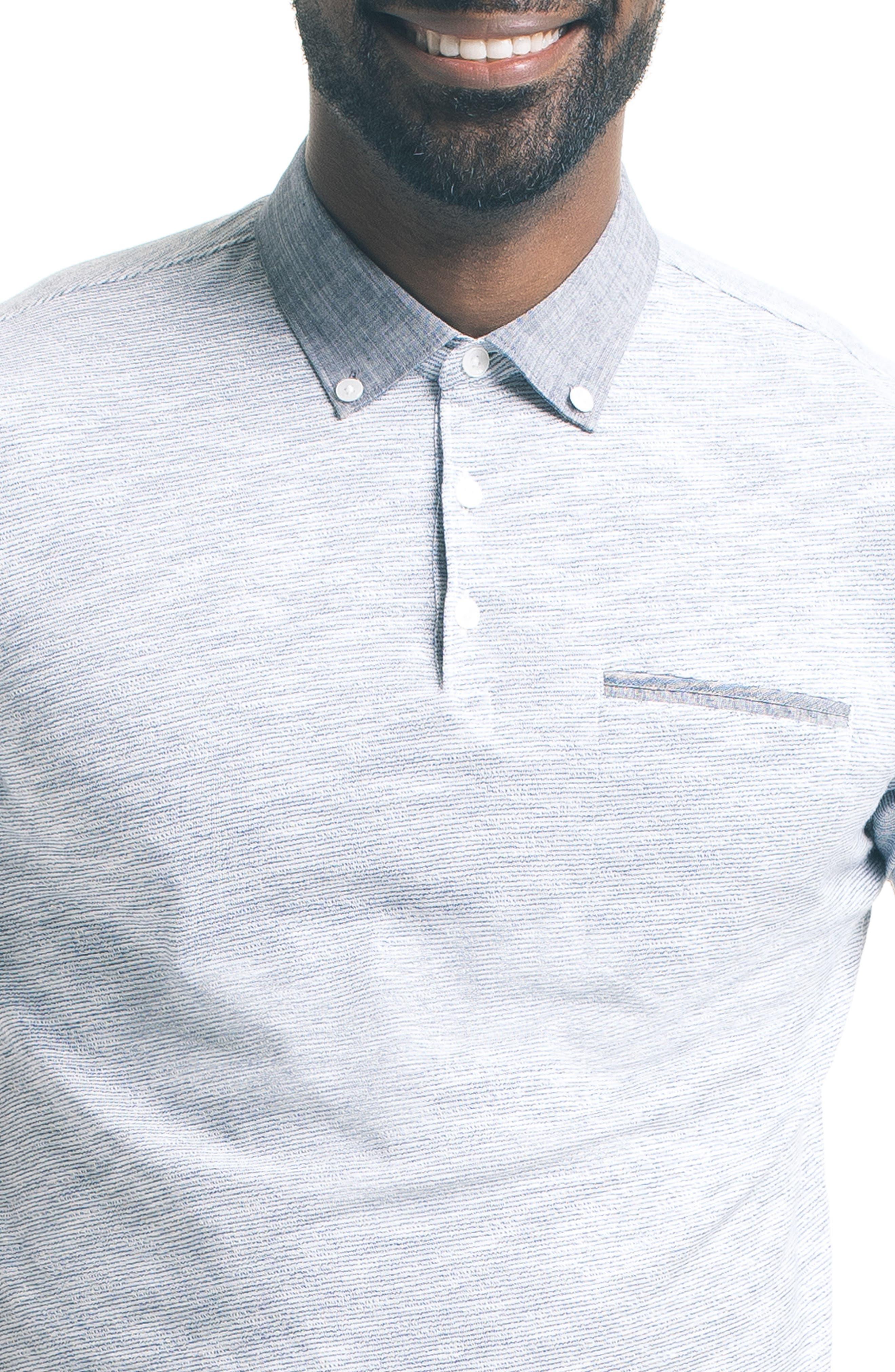 Alternate Image 5  - Good Man Brand Trim Fit Carbon Peach Polo