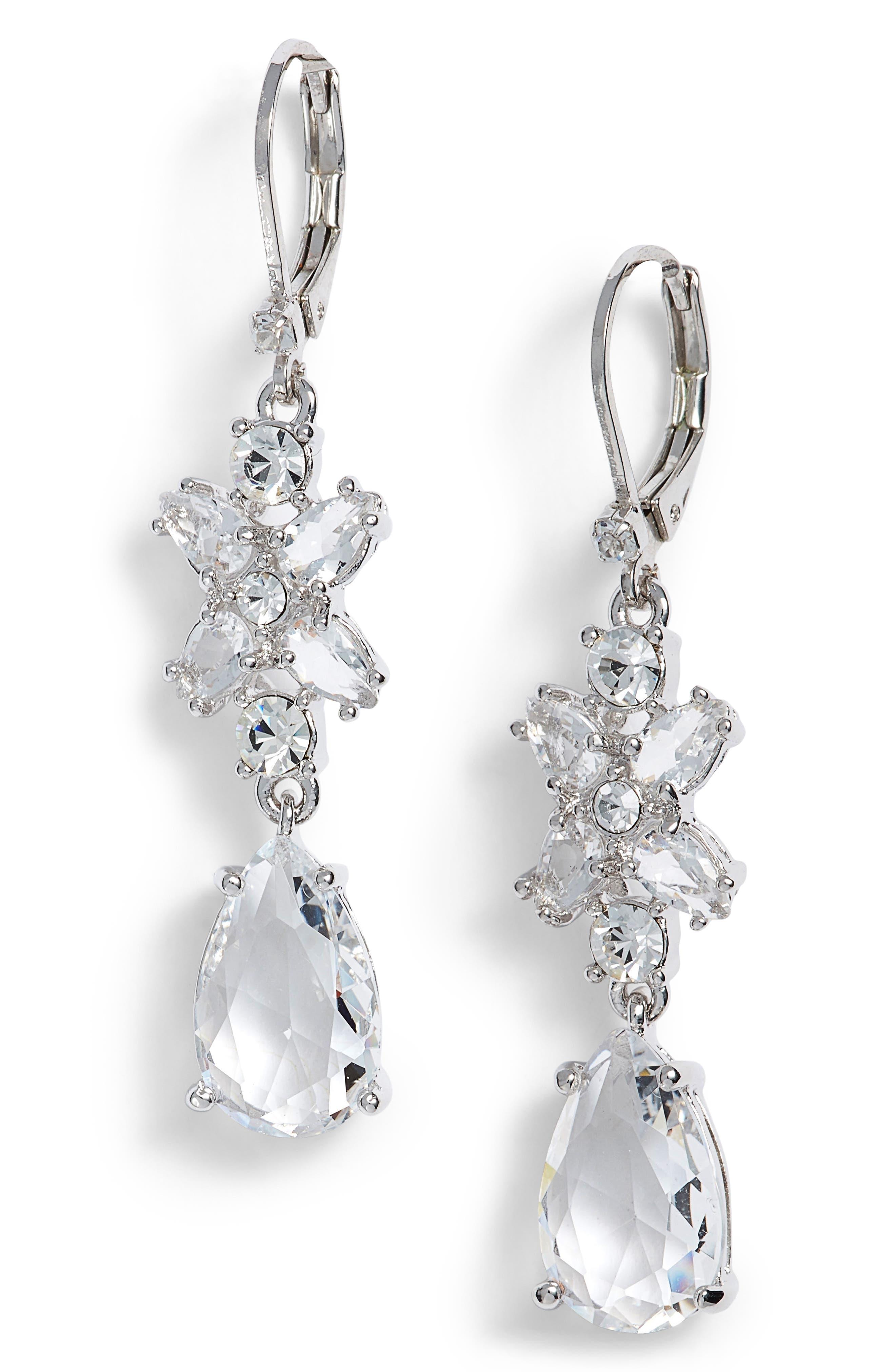 take a shine drop earrings,                         Main,                         color, Silver