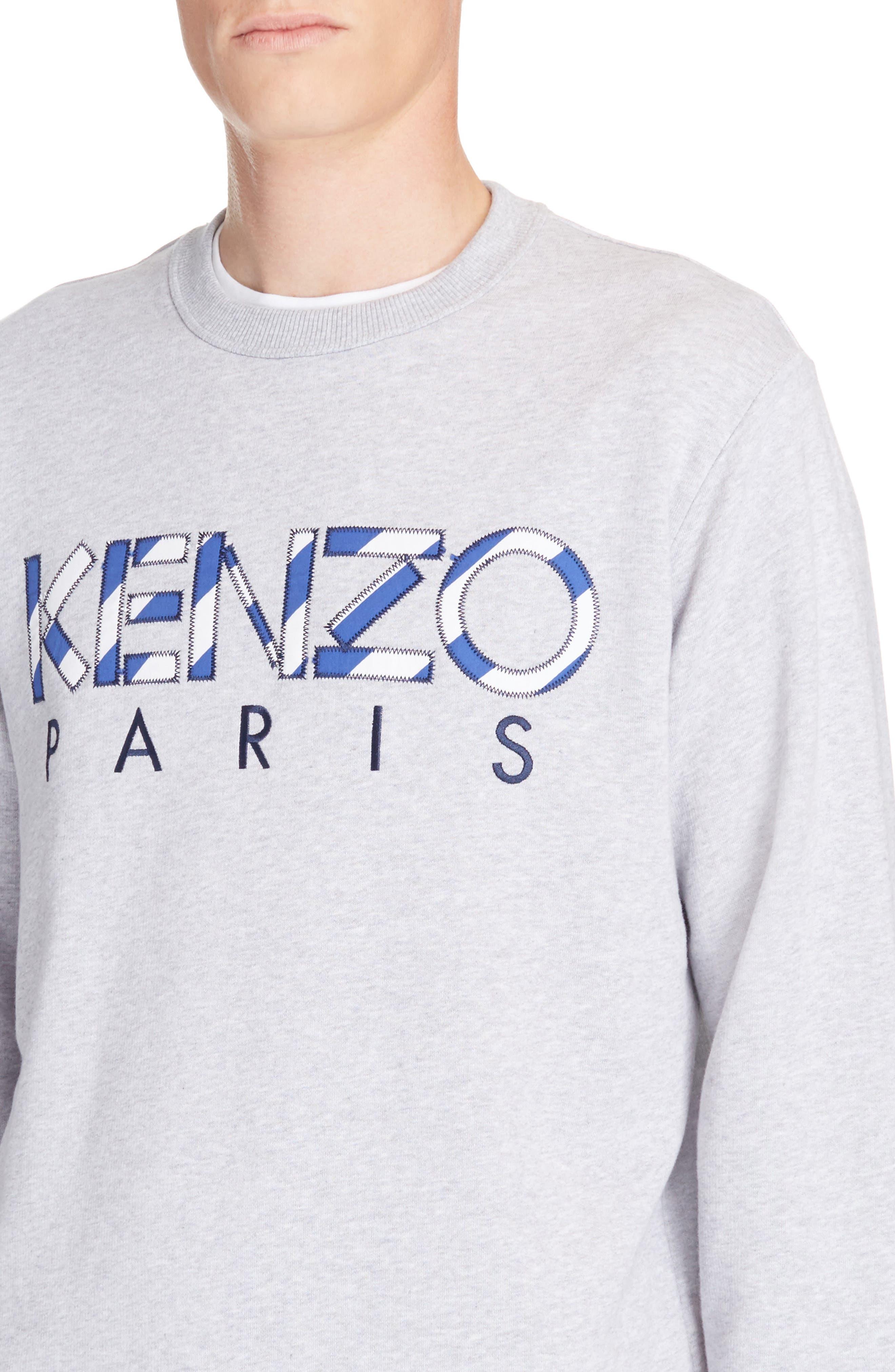 Alternate Image 4  - KENZO Stripe Logo Graphic Sweatshirt