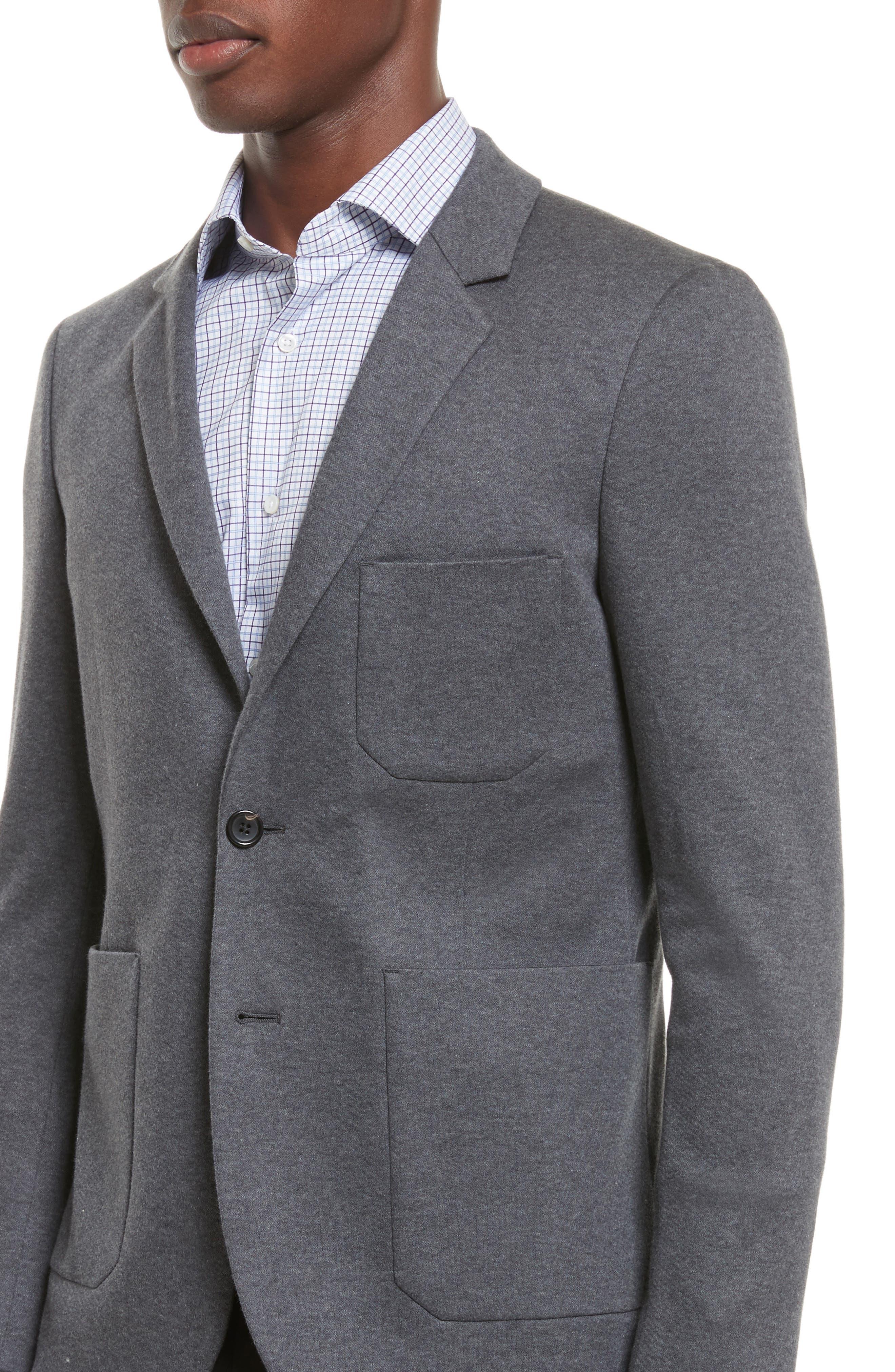 Slim Fit Sport Coat,                             Alternate thumbnail 4, color,                             Grey