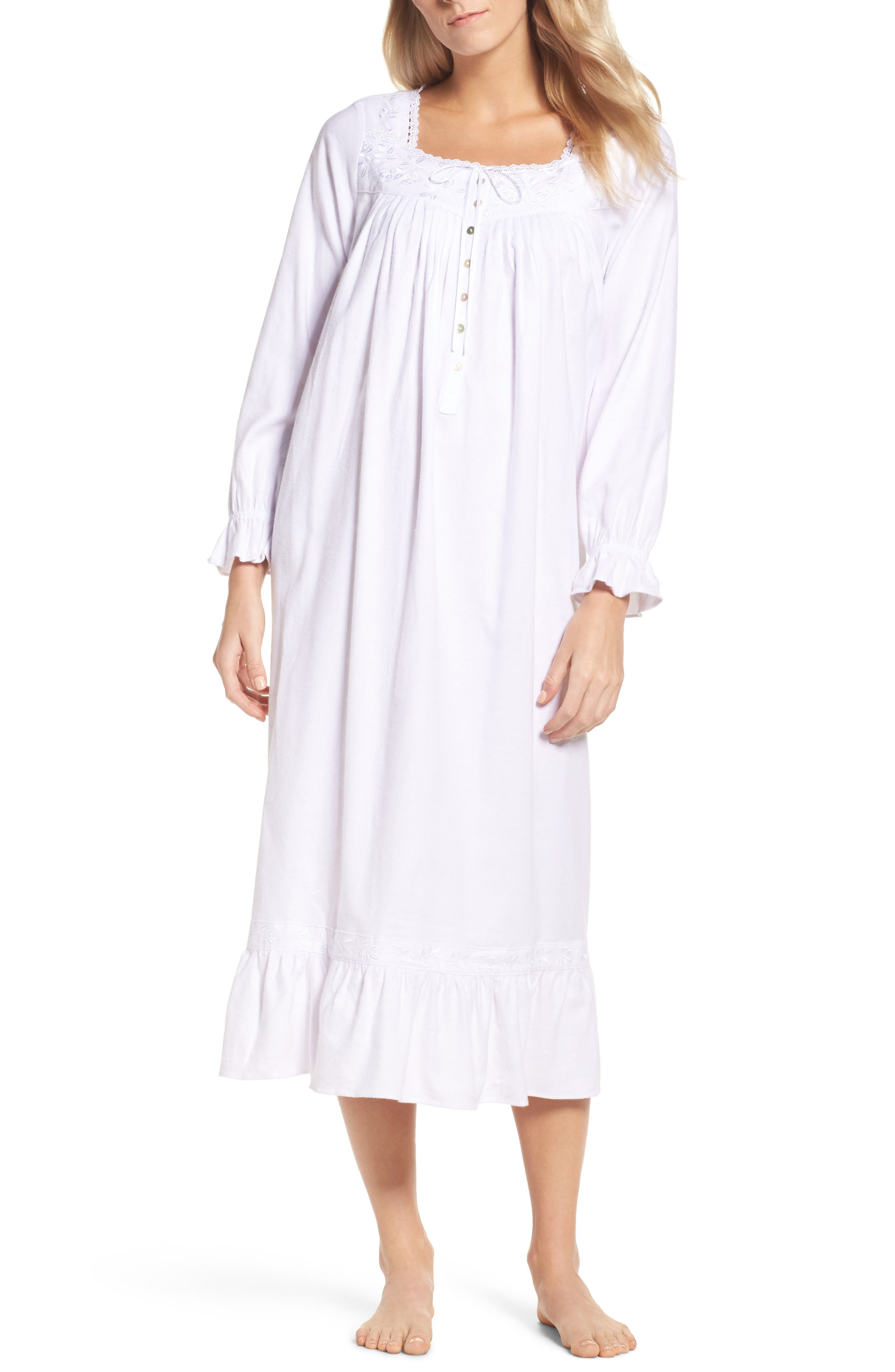 Eileen West Embroidered Nightgown