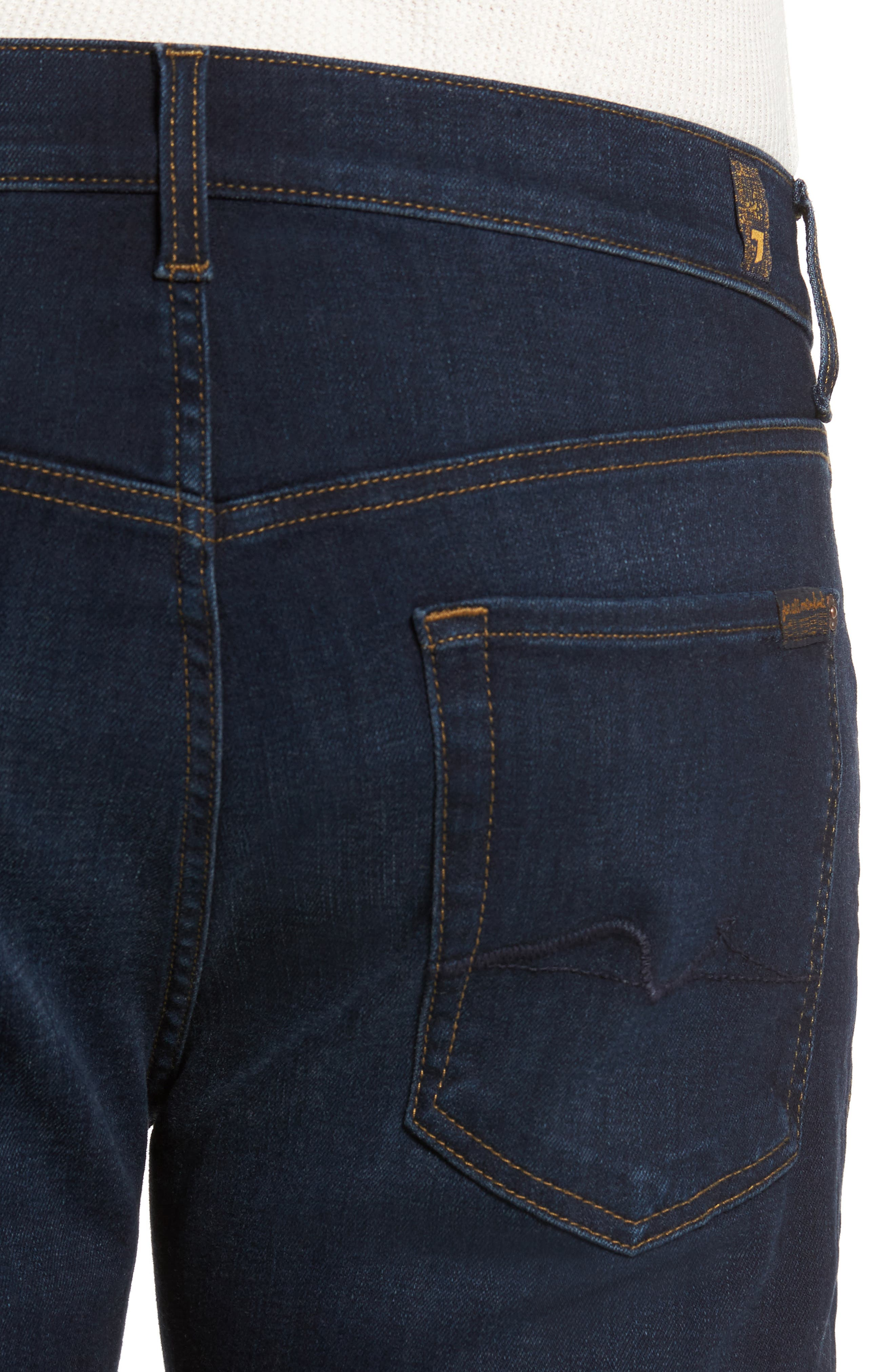 Standard Straight Fit Jeans,                             Alternate thumbnail 4, color,                             Albany