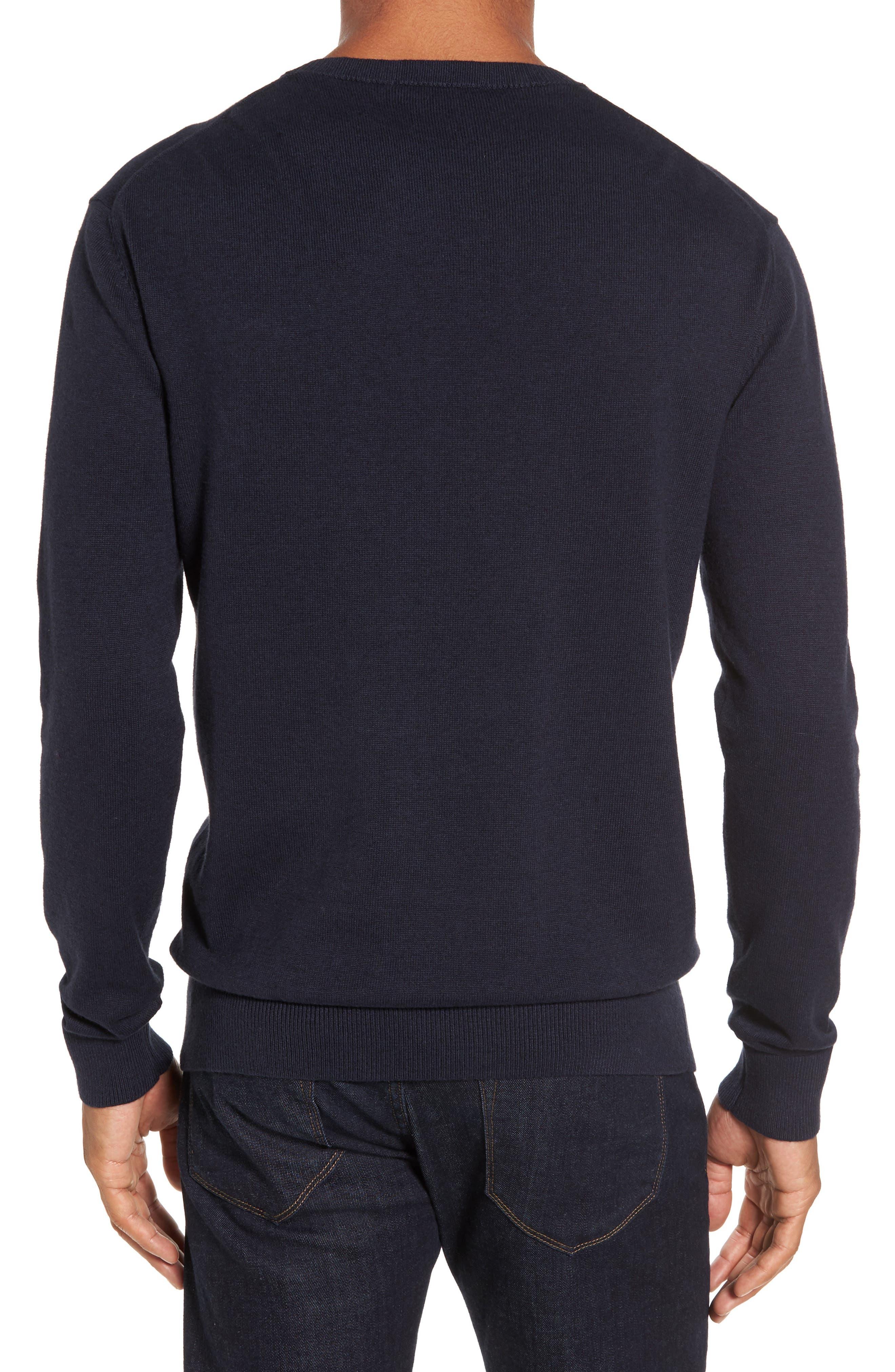Portrait Crewneck Sweater,                             Alternate thumbnail 2, color,                             Marine Blue