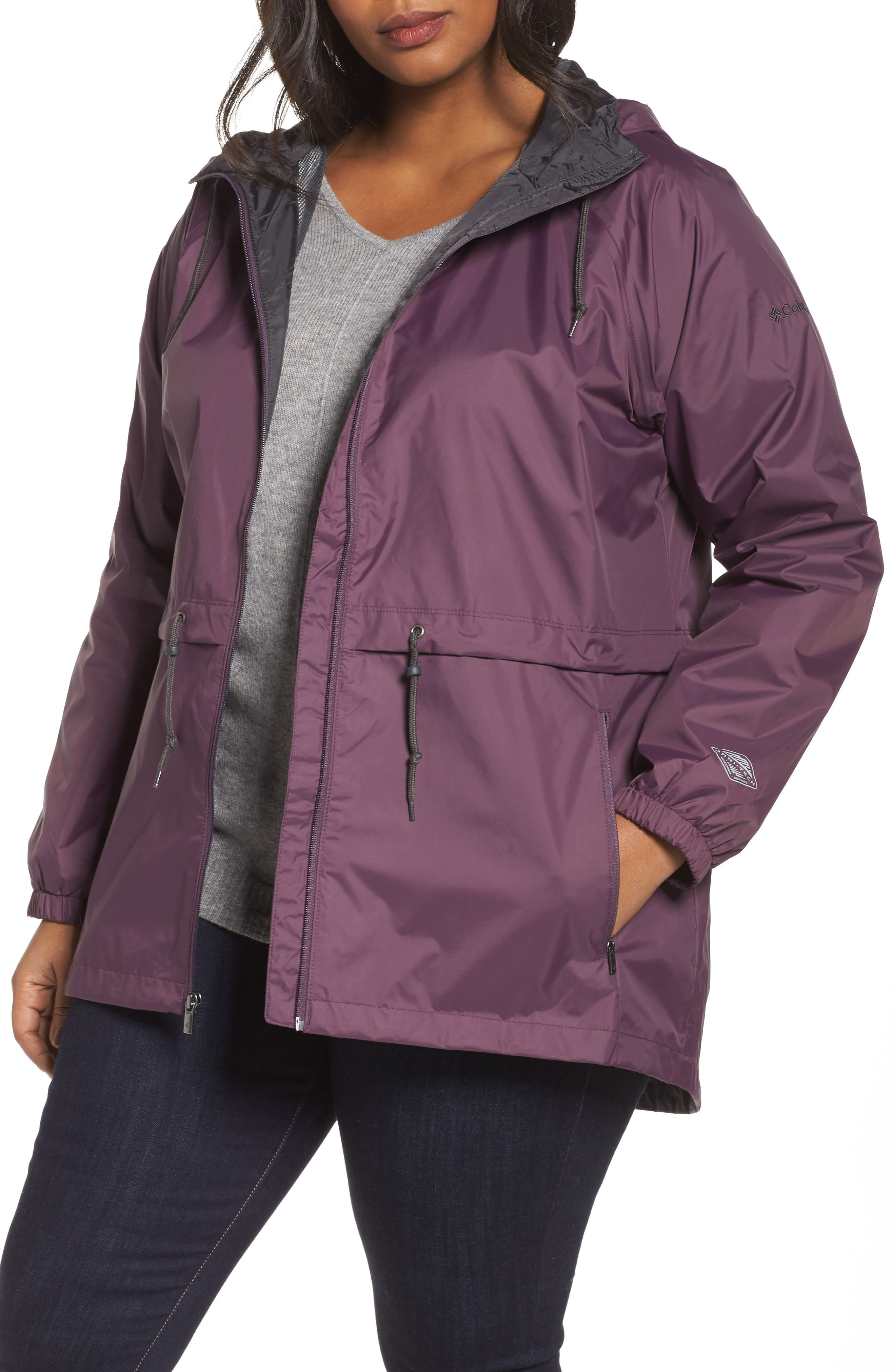 Main Image - Columbia 'Arcadia' Hooded Waterproof Casual Jacket (Plus Size)