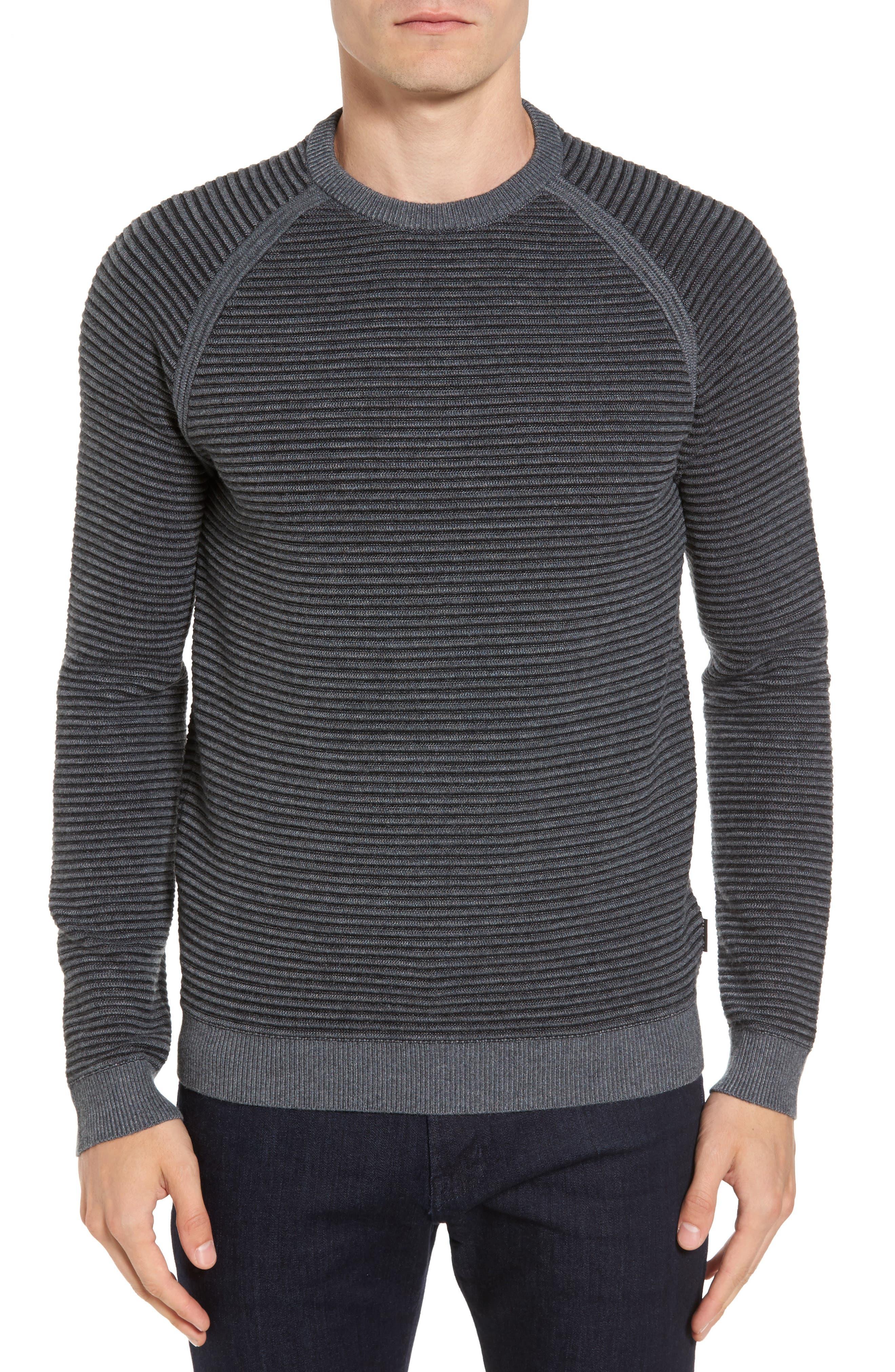 Alternate Image 1 Selected - Ted Baker London Cashoo Slim Fit Ribbed Sweatshirt