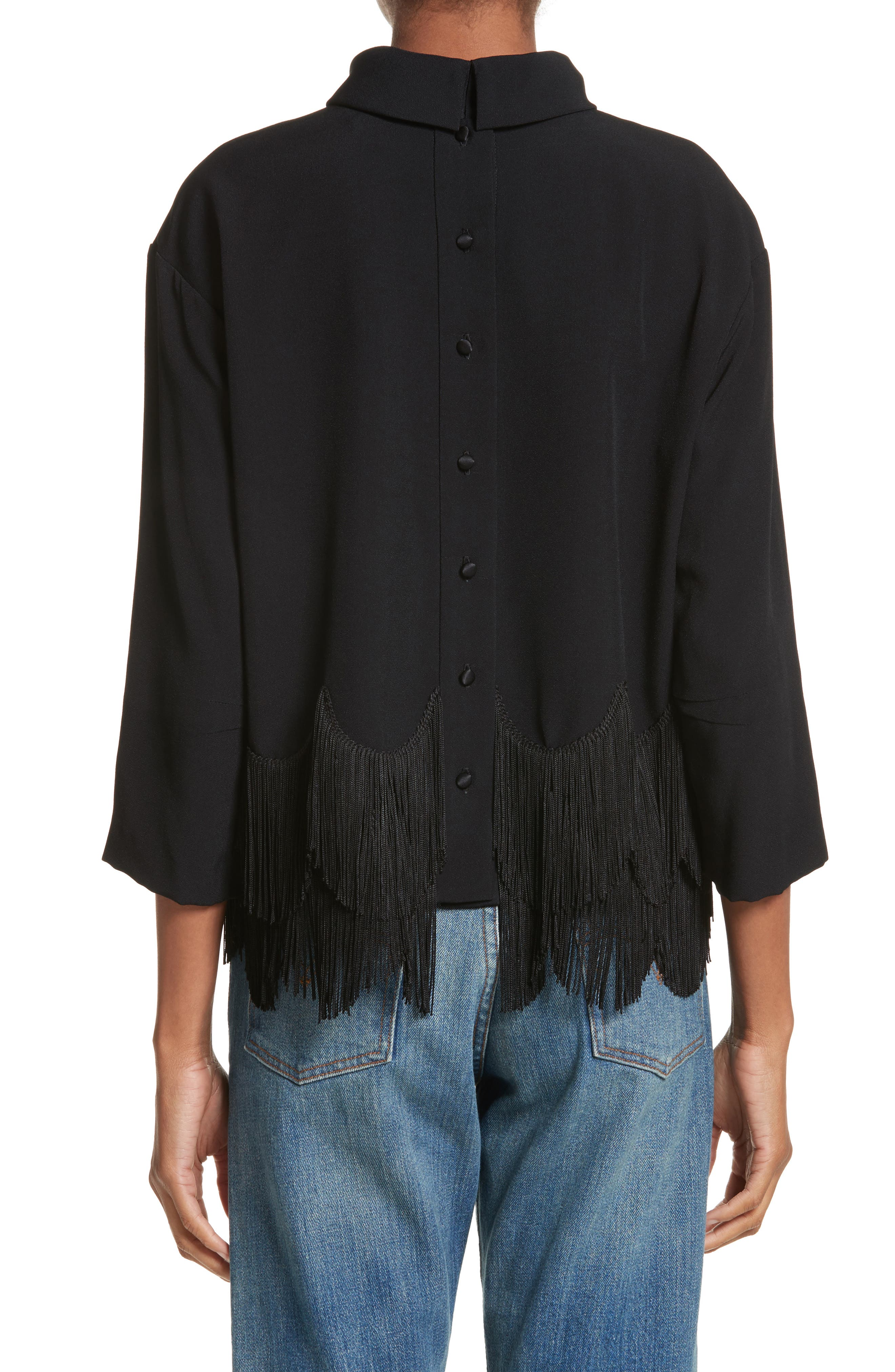 Alternate Image 2  - MARC JACOBS Fringe Hem Turtleneck