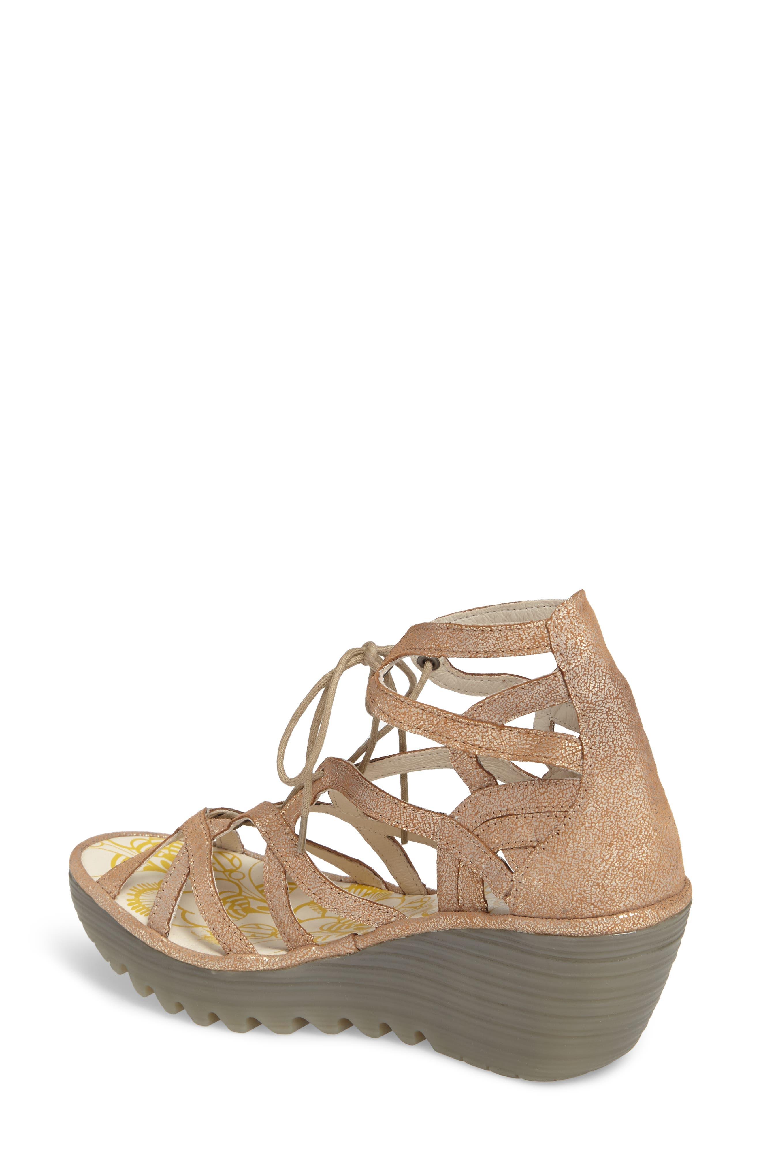 'Yuke' Platform Wedge Sandal,                             Alternate thumbnail 2, color,                             Luna Leather