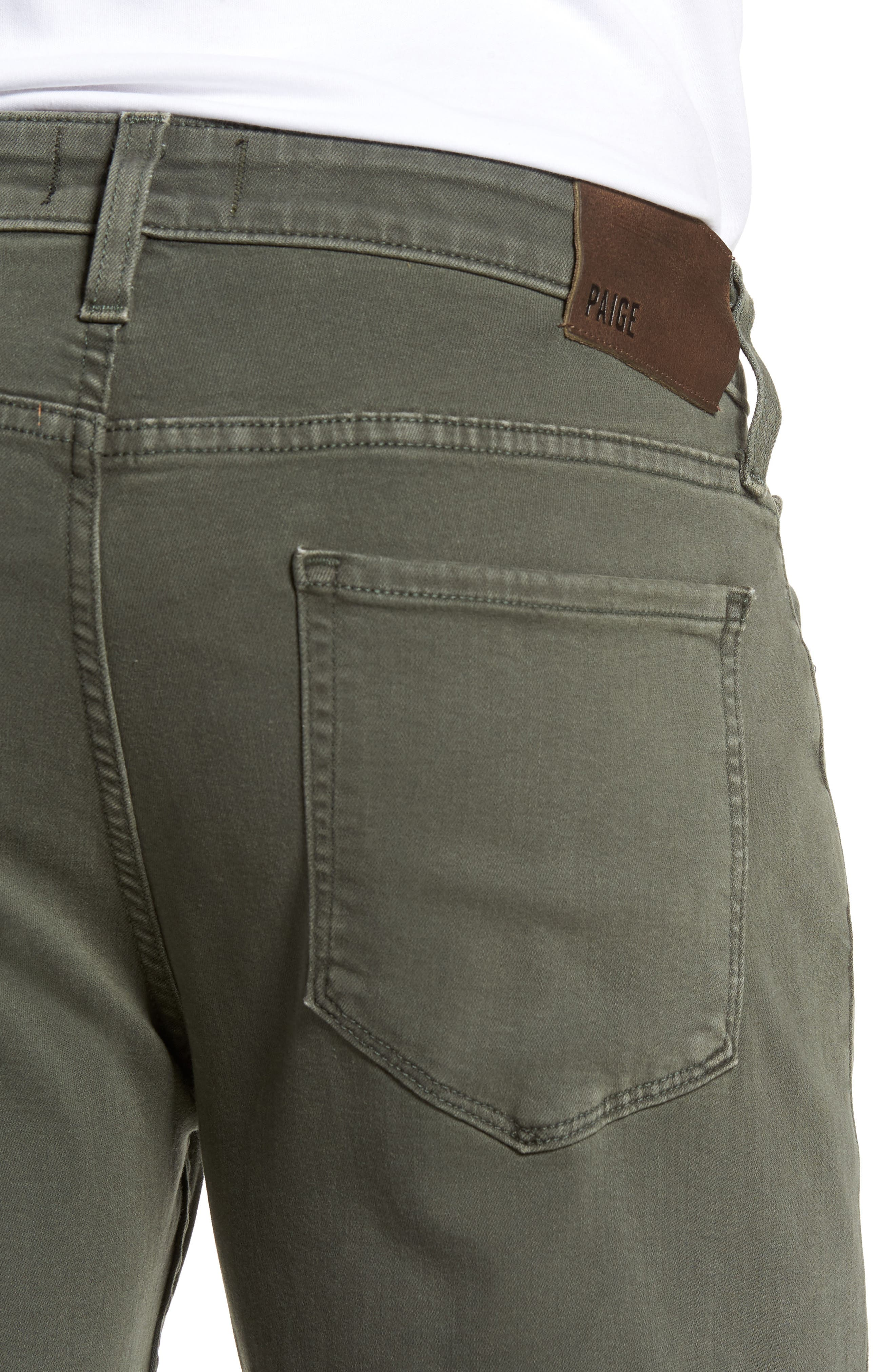 Transcend - Federal Slim Straight Leg Jeans,                             Alternate thumbnail 4, color,                             Vintage Green Fields