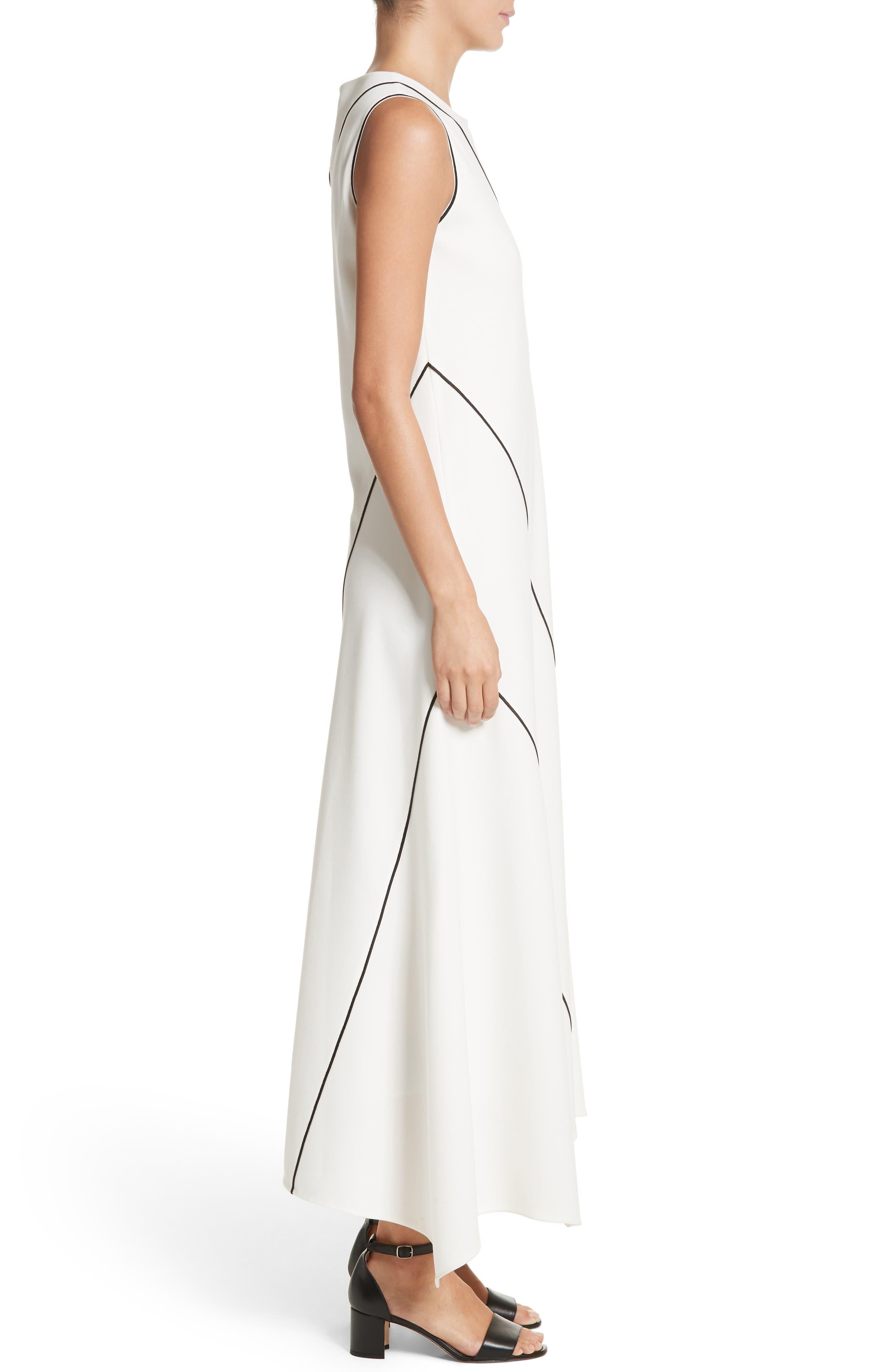 Alternate Image 3  - Lafayette 148 New York Madelia Velvet & Satin Midi Dress