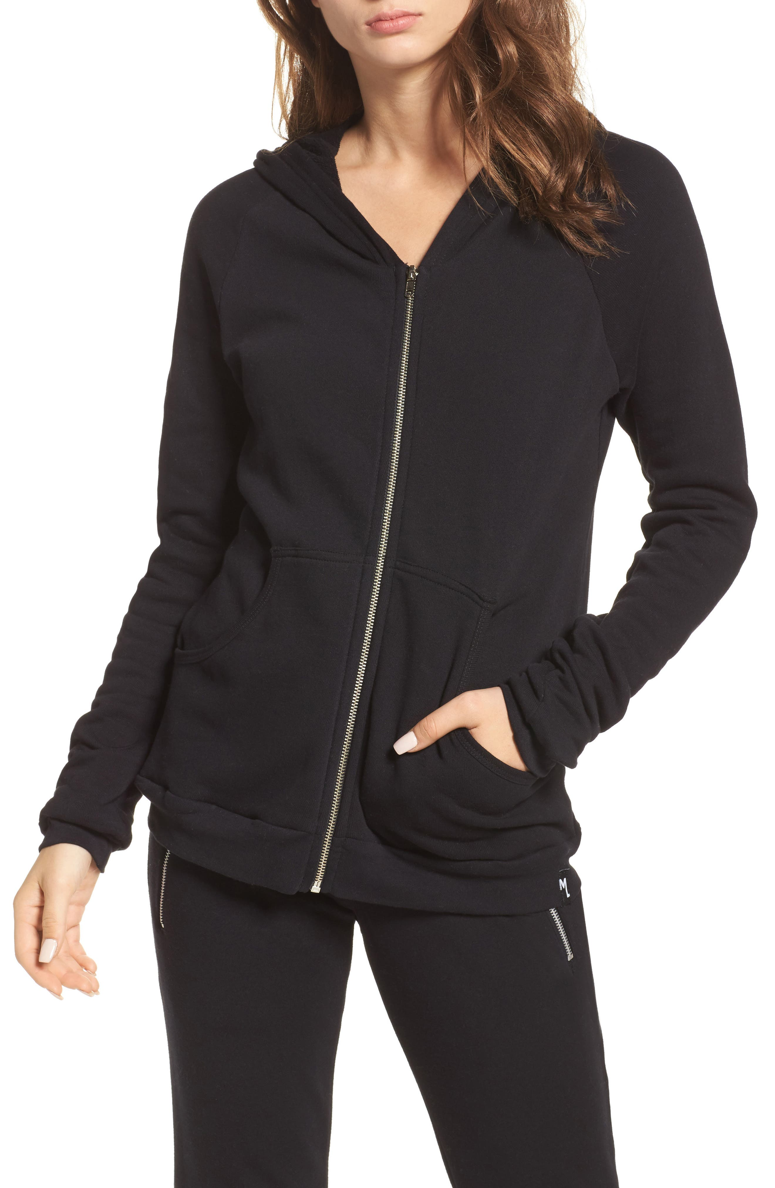 Alternate Image 1 Selected - Michael Lauren Paris Zip Lounge Hoodie