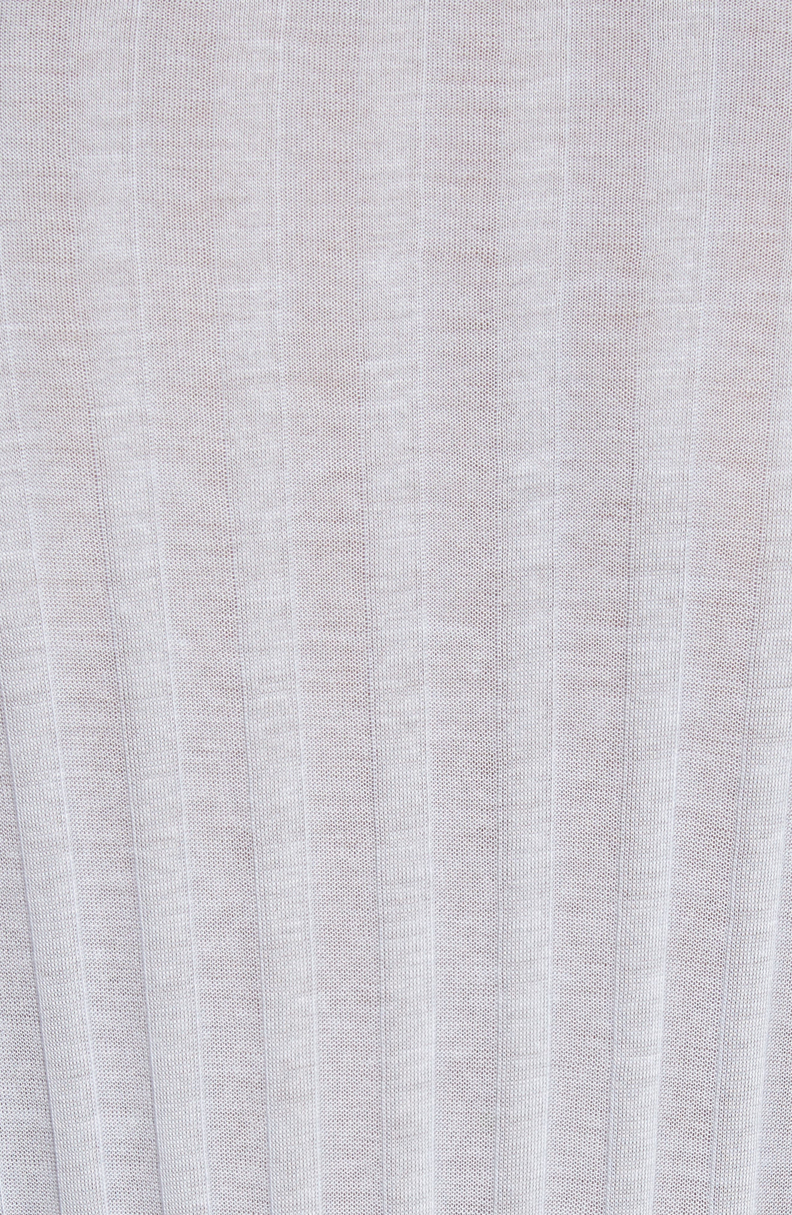Lookout Ribbed High/Low Tee,                             Alternate thumbnail 5, color,                             Lavender