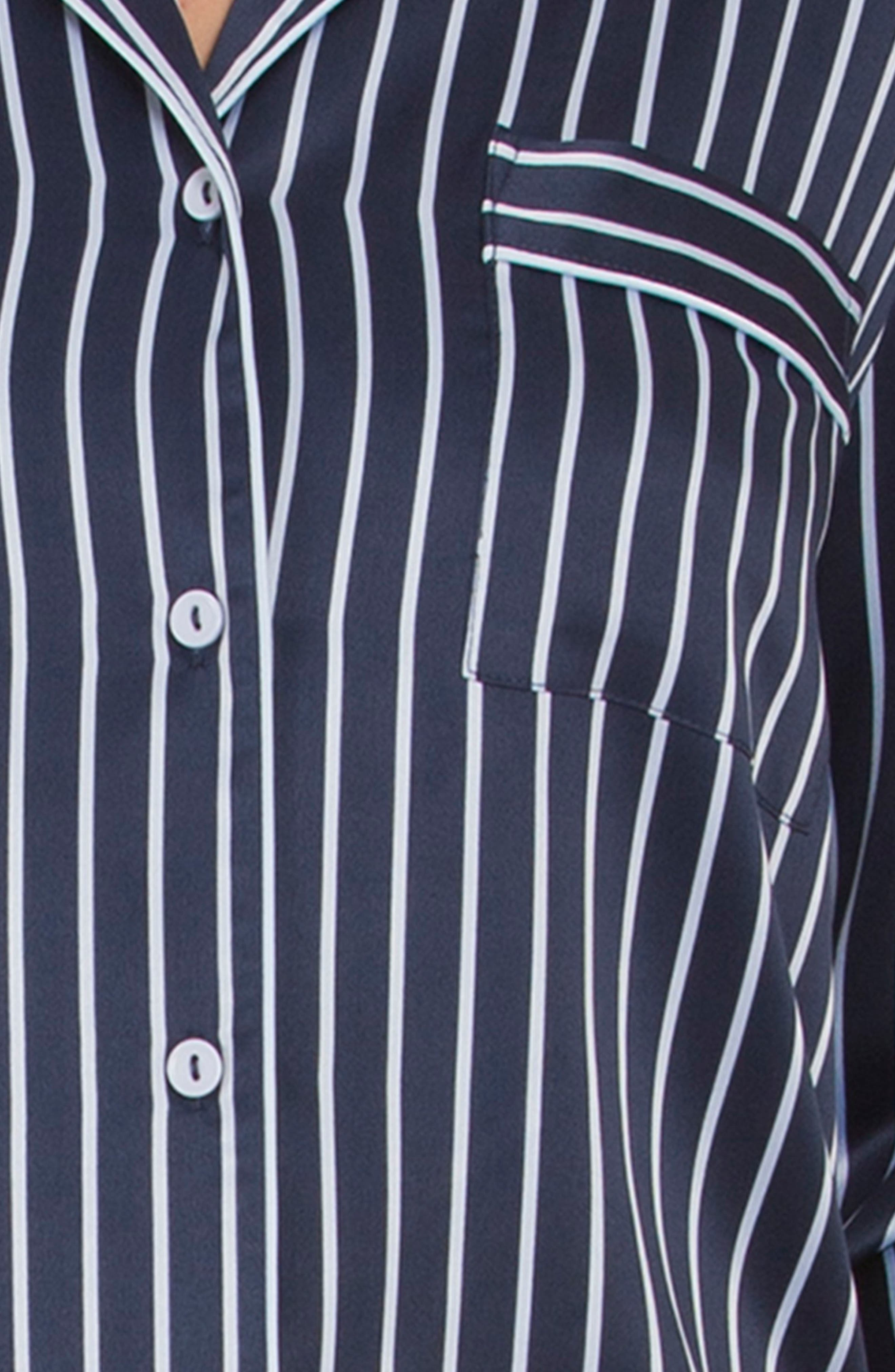 Pajamas,                             Alternate thumbnail 4, color,                             Navy Stripe