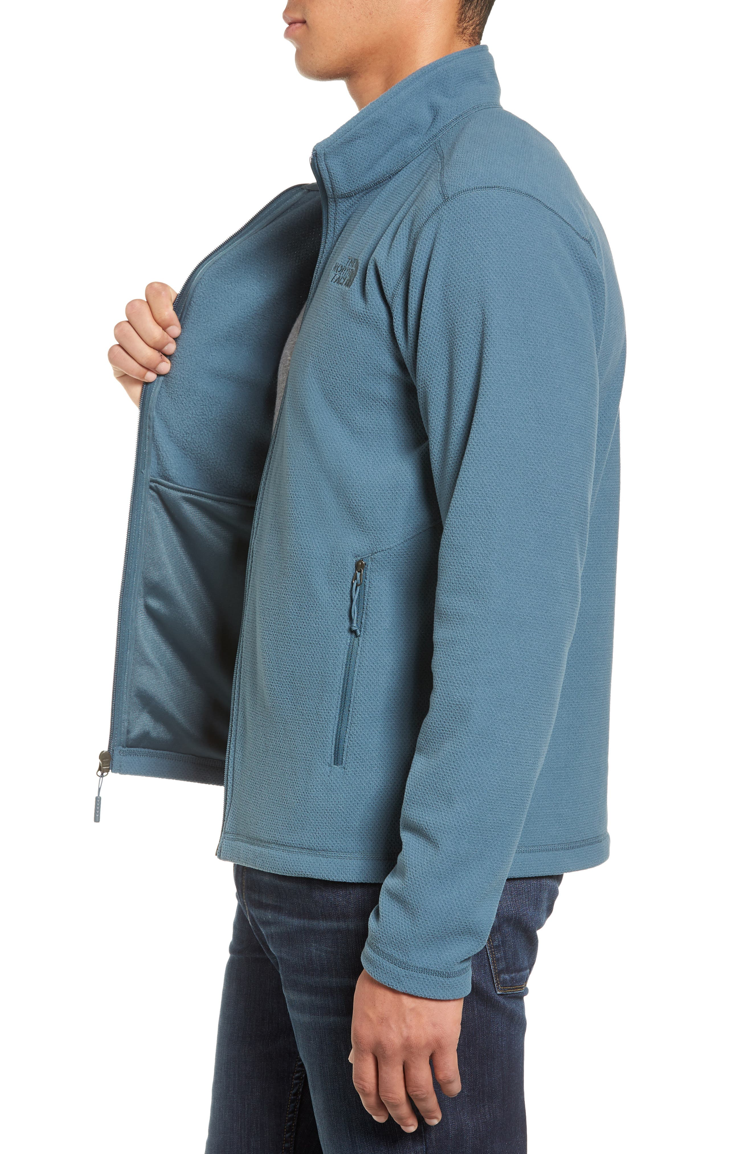 Cap Rock Fleece Jacket,                             Alternate thumbnail 3, color,                             Conquer Blue