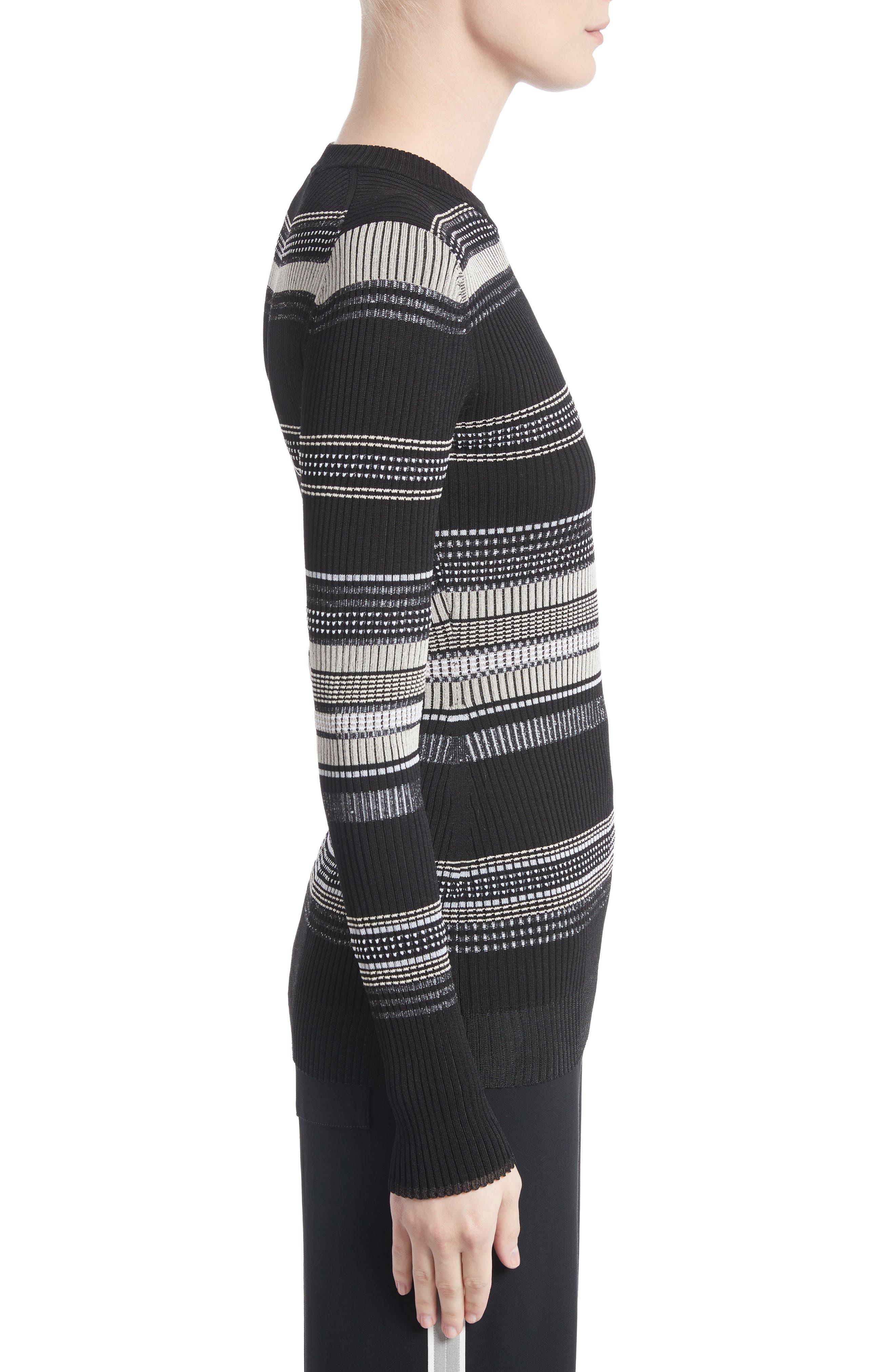 Alternate Image 3  - Proenza Schouler Stripe Rib Knit Top