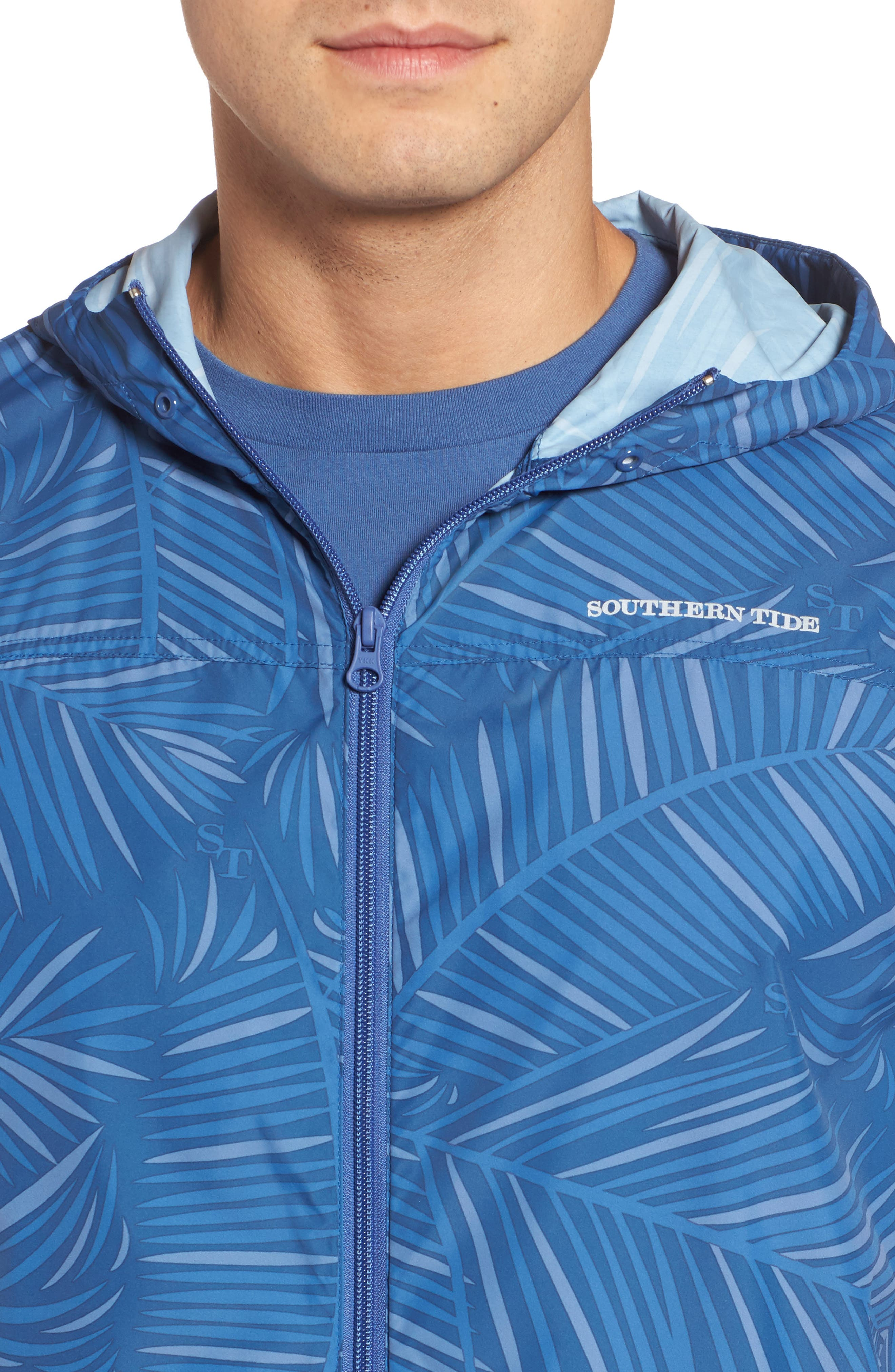 Pelican Peak Full Zip Hooded Jacket,                             Alternate thumbnail 4, color,                             Seven Seas Blue