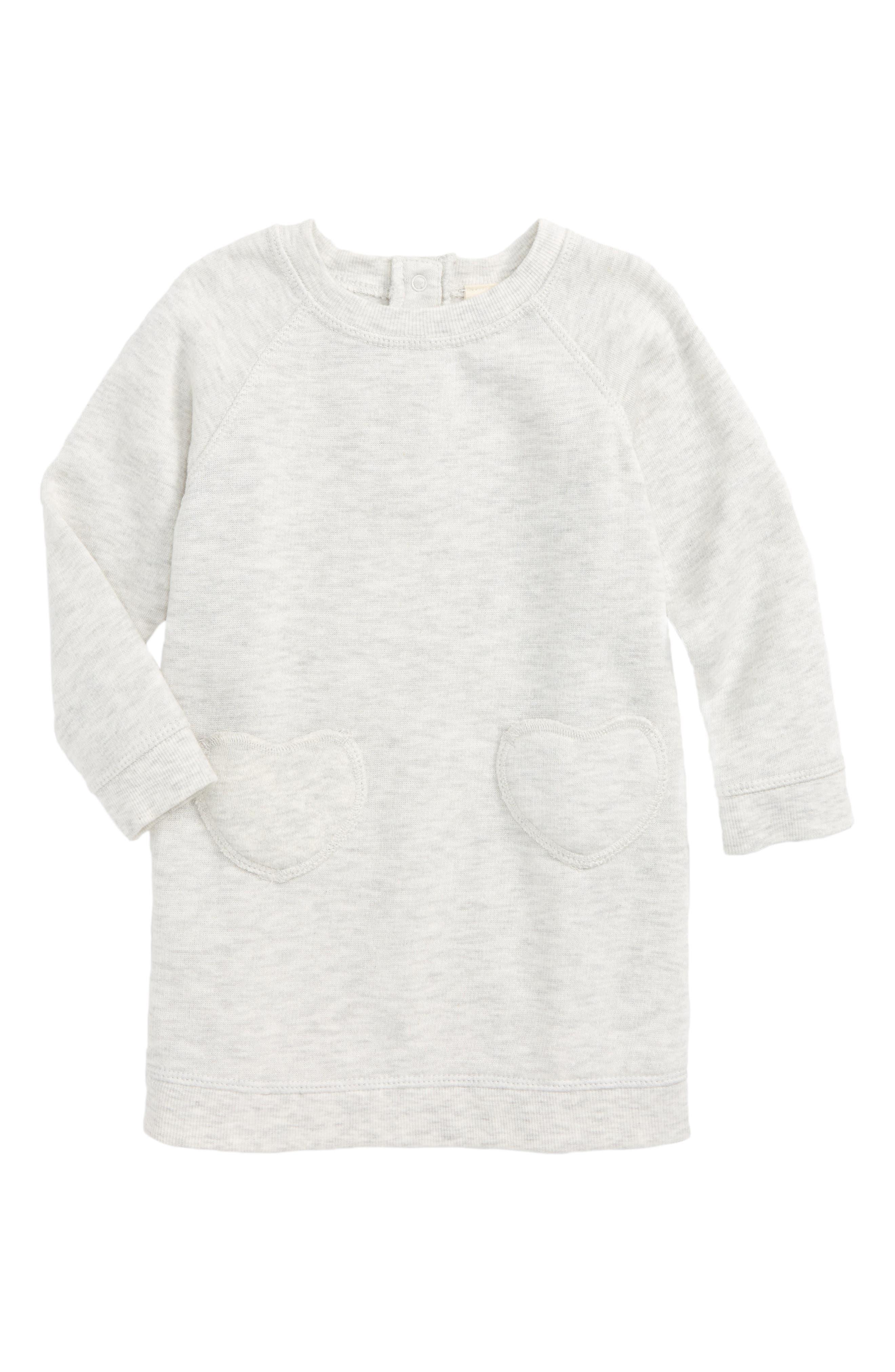 Alternate Image 1 Selected - Tucker + Tate Sweatshirt Dress (Baby Girls)