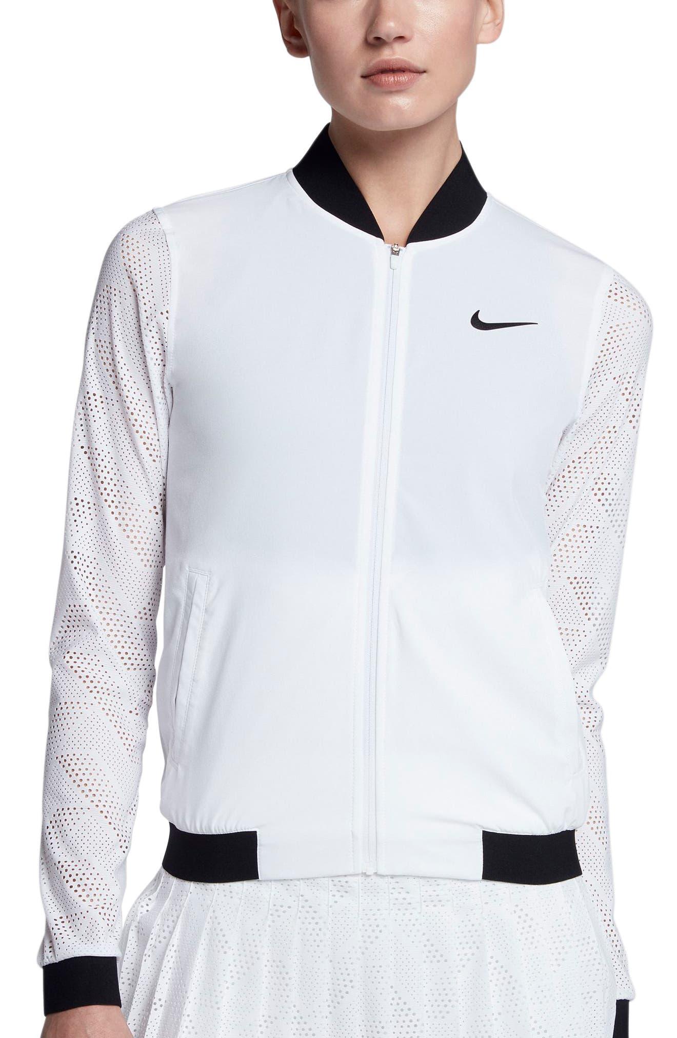 NikeCourt Maria Tennis Jacket,                         Main,                         color, White/ Black