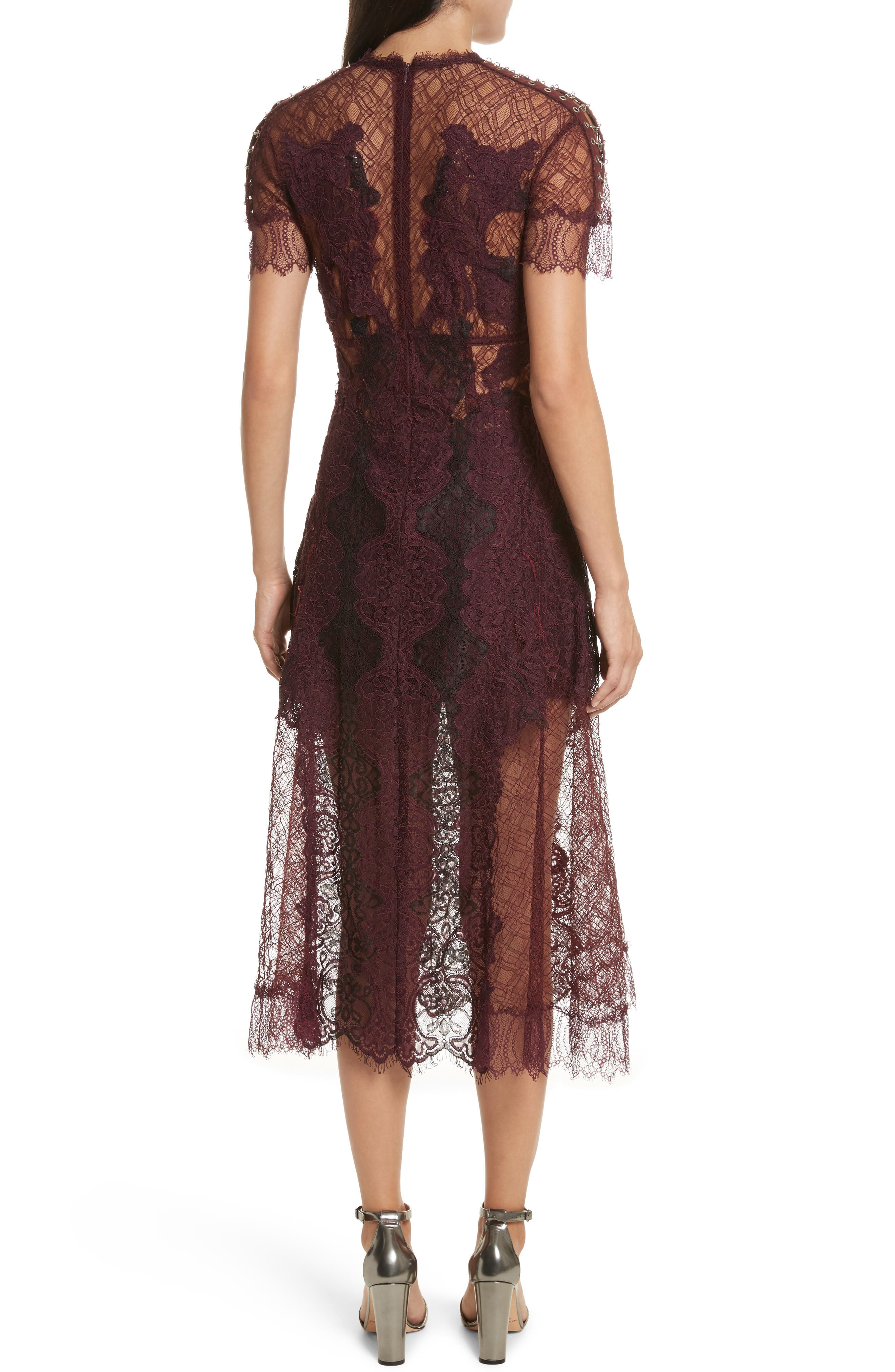 Alternate Image 2  - Jonathan Simkhai Grommet Detail Lace Dress
