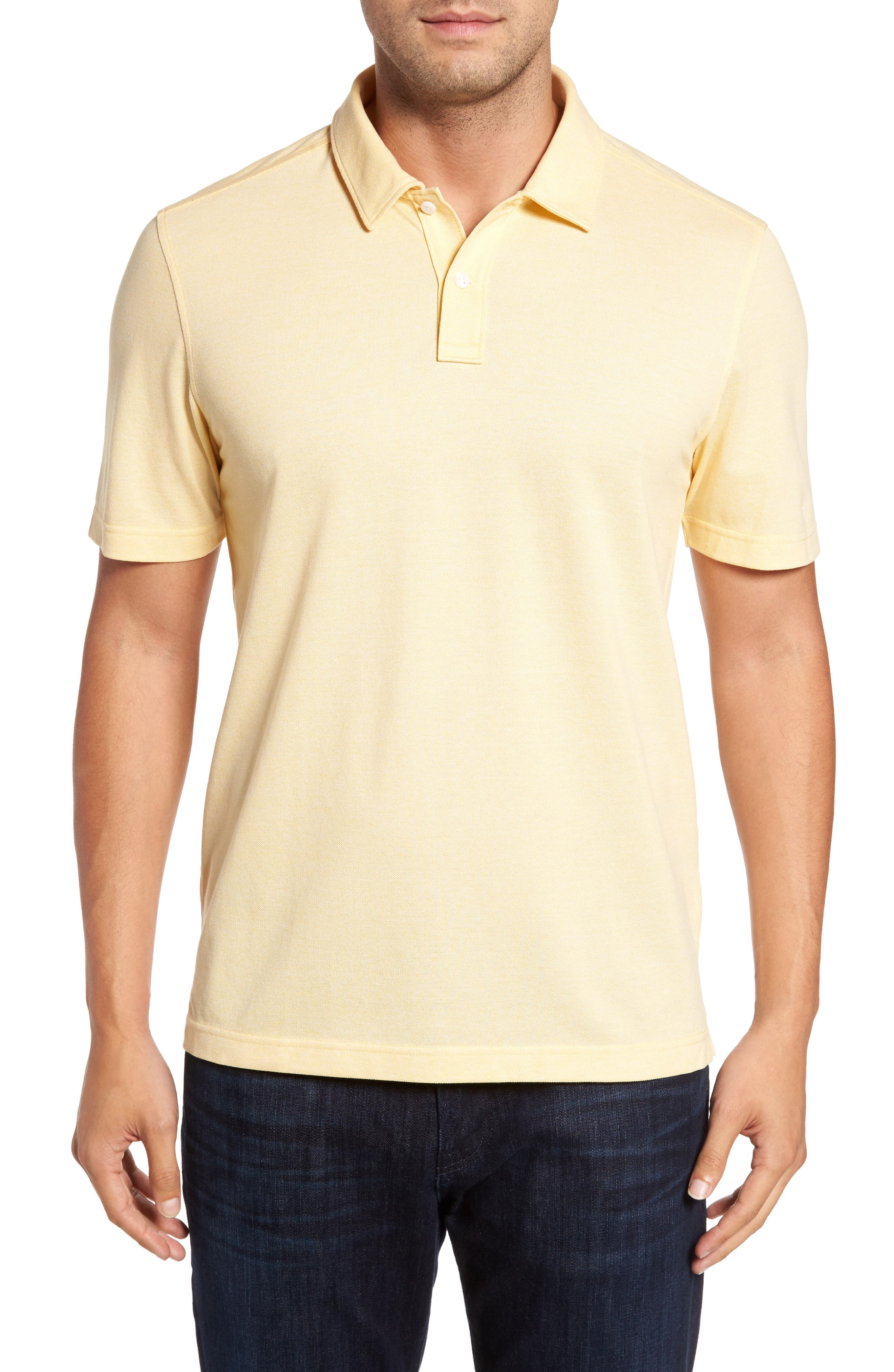 Regular Fit Polo,                         Main,                         color, Yellow Silk