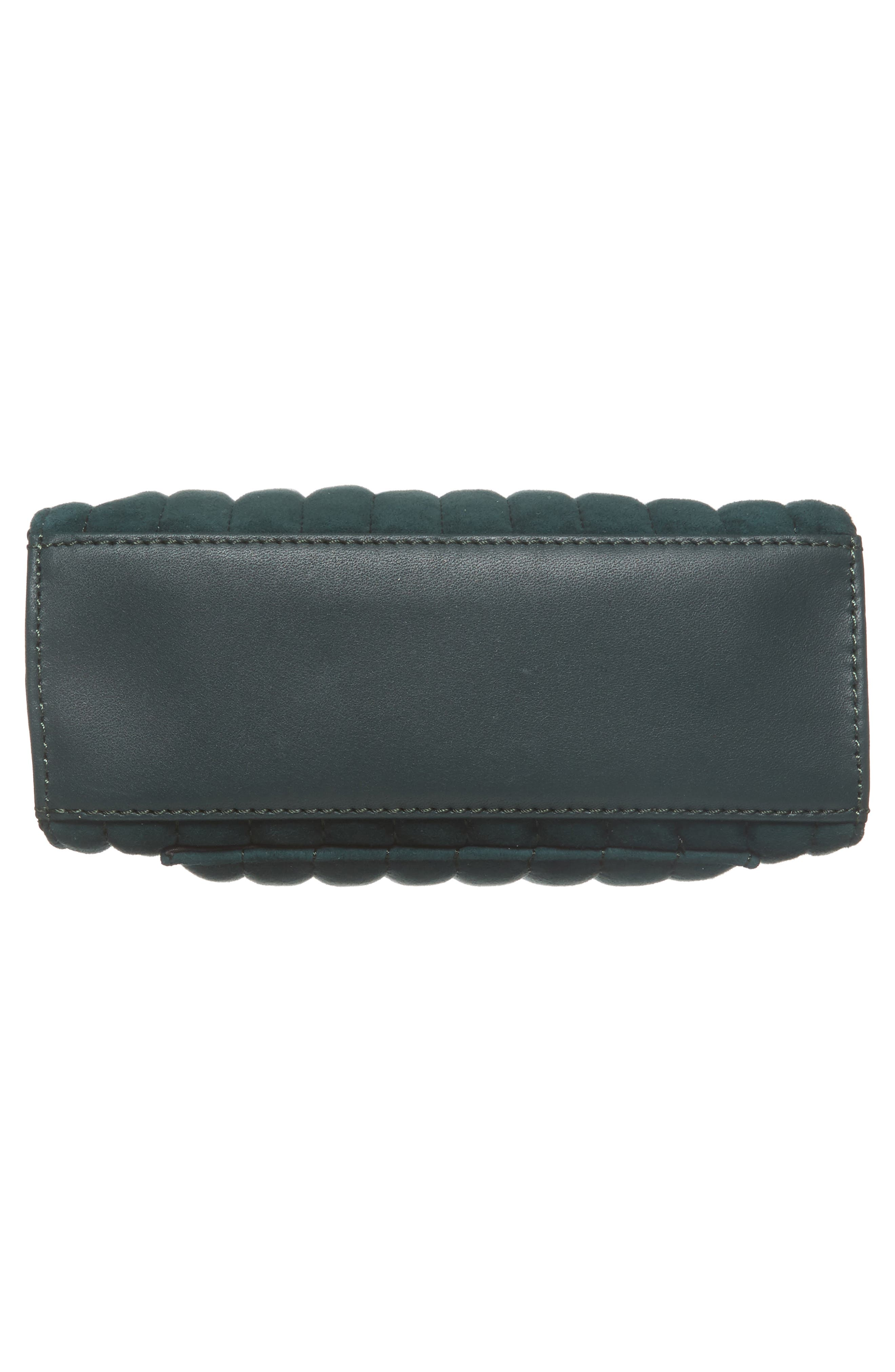 Camden Leather Crossbody Bag,                             Alternate thumbnail 6, color,                             Ink Green Quilted
