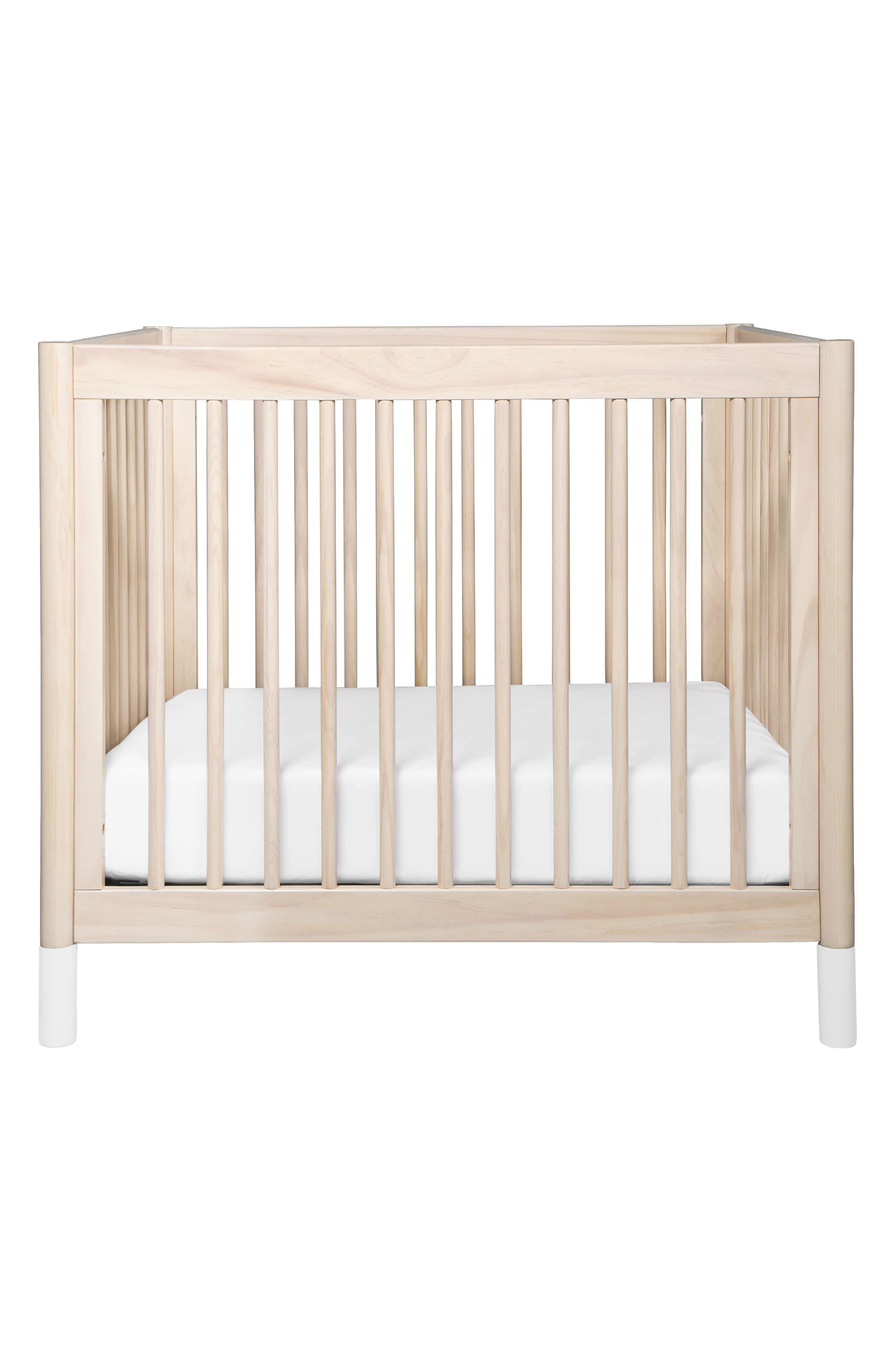 Gelato Mini Crib,                             Main thumbnail 1, color,                             Washed Natural And White