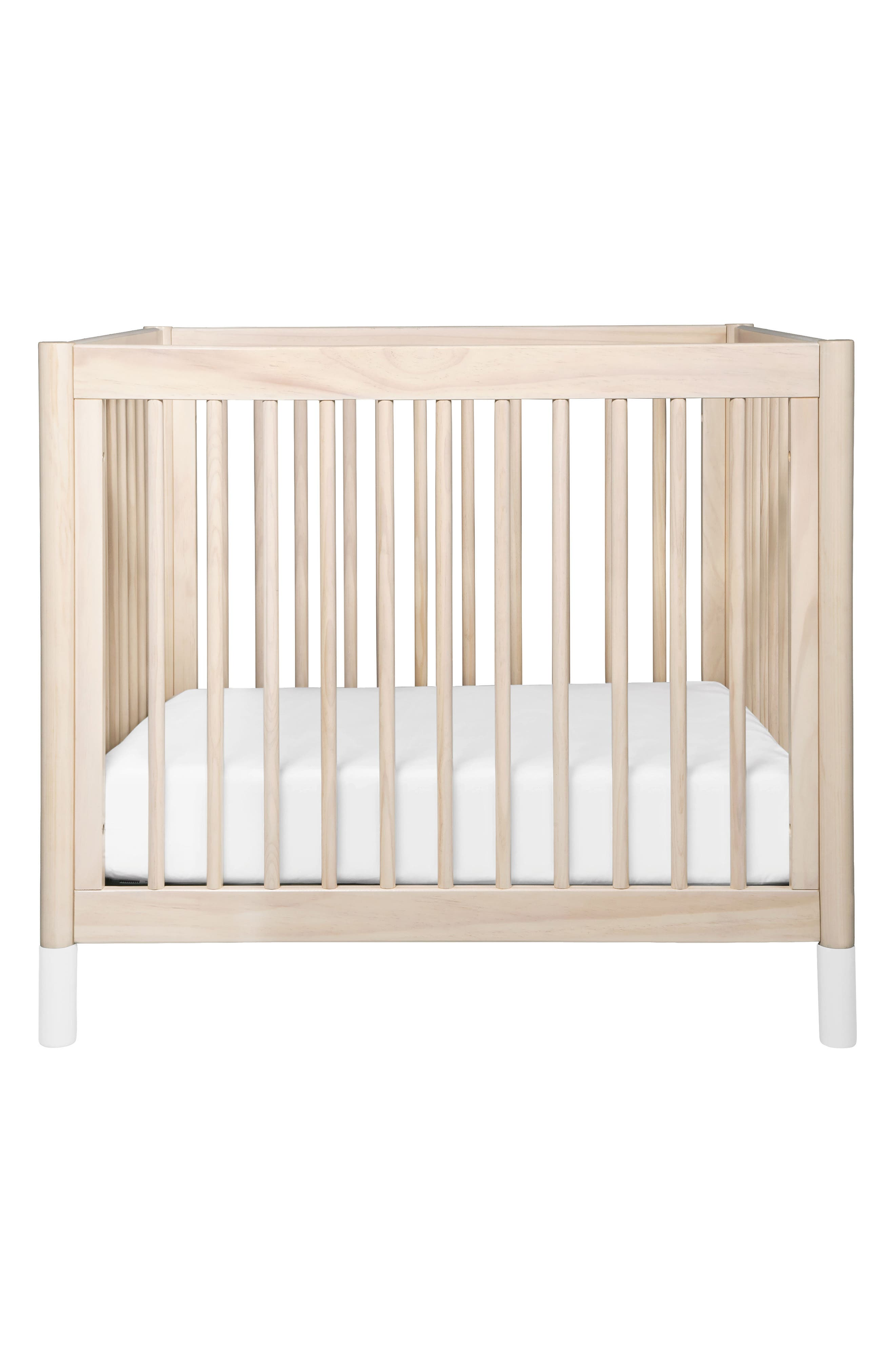 Gelato Mini Crib,                         Main,                         color, Washed Natural And White