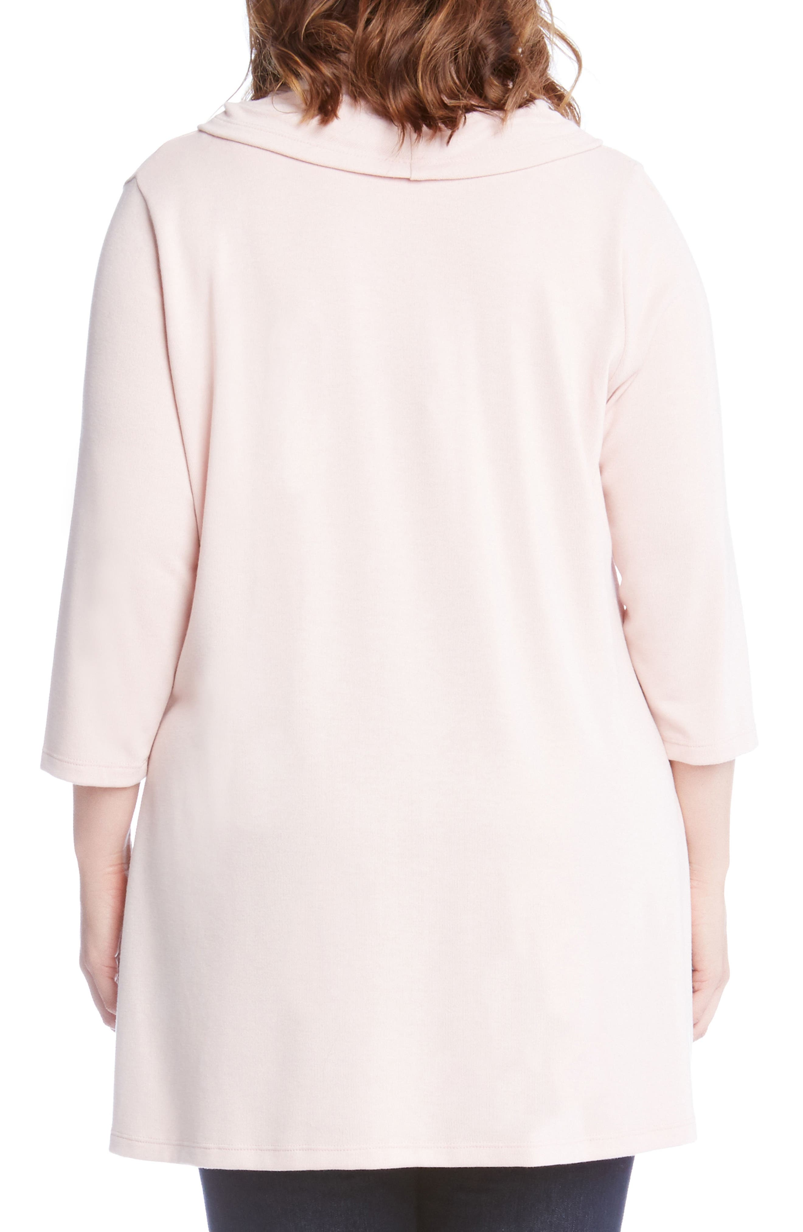 Cowl Neck High/Low Sweater,                             Alternate thumbnail 3, color,                             Pink