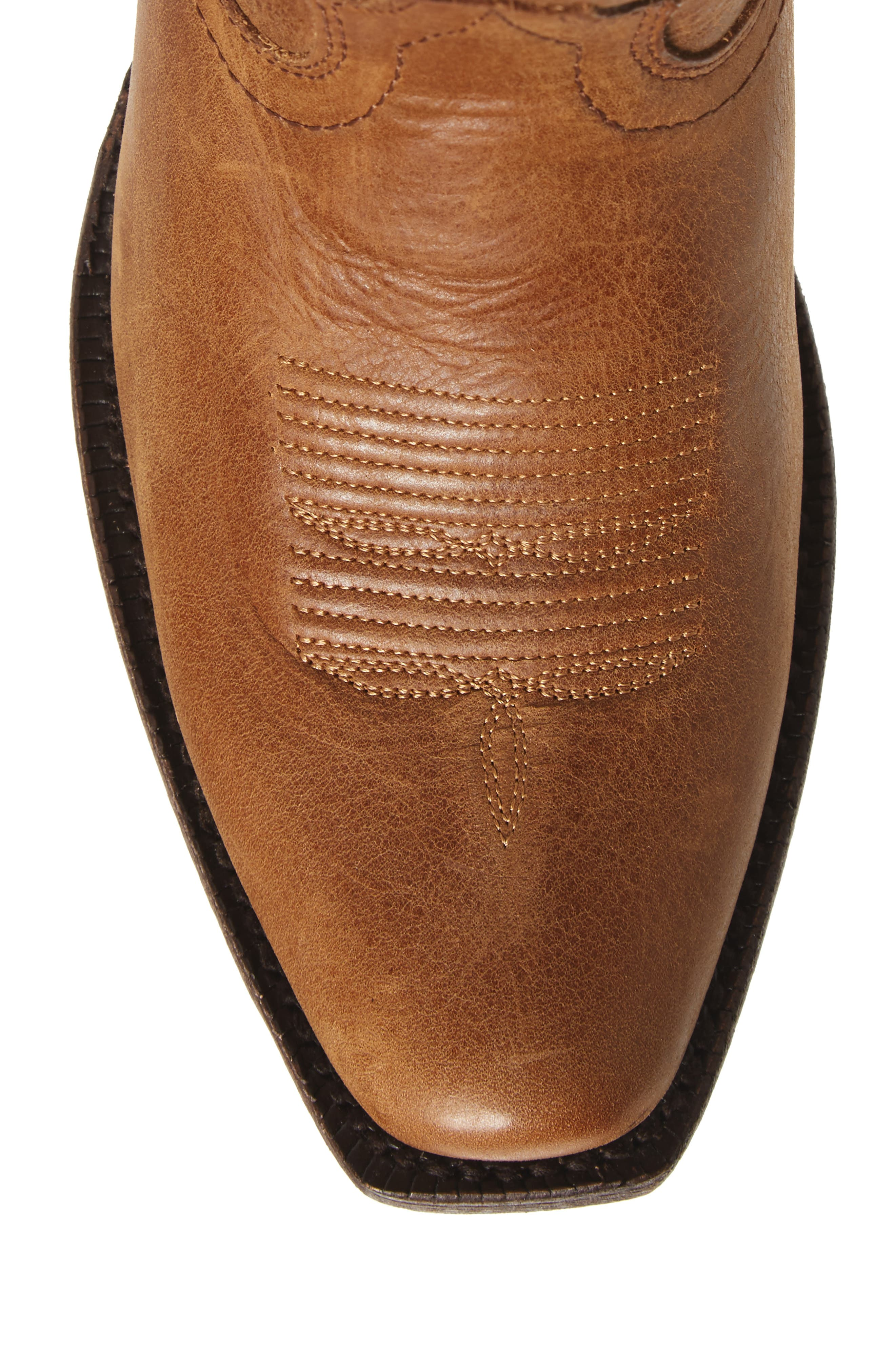 Rowan Stovepipe Western Boot,                             Alternate thumbnail 5, color,                             Southern Tan Leather
