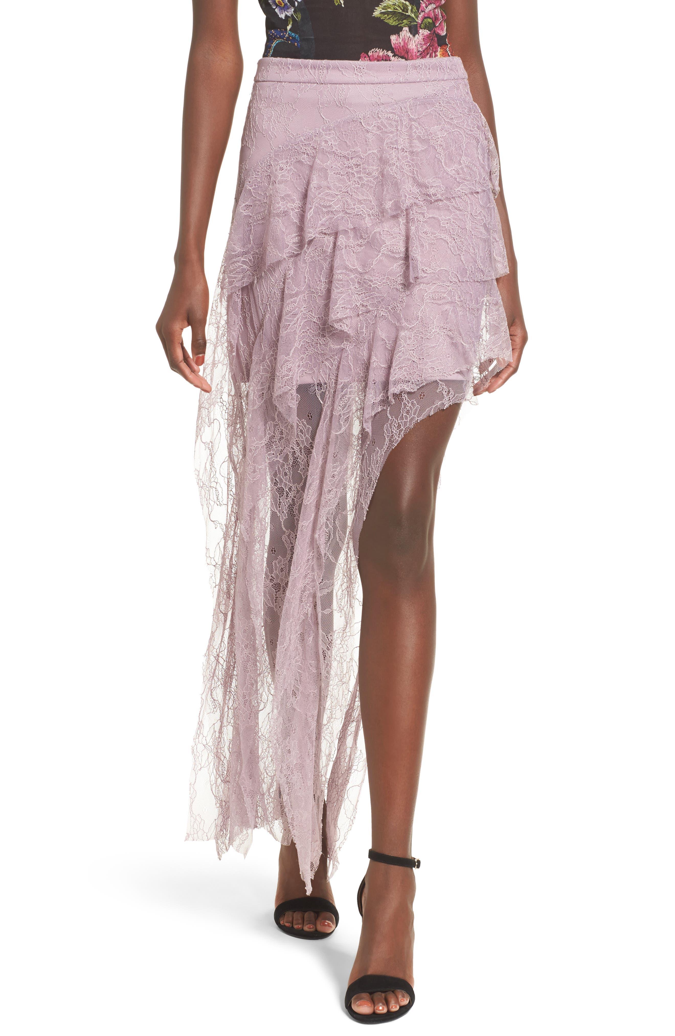 Alternate Image 1 Selected - AFRM Emilia Ruffle Maxi Skirt