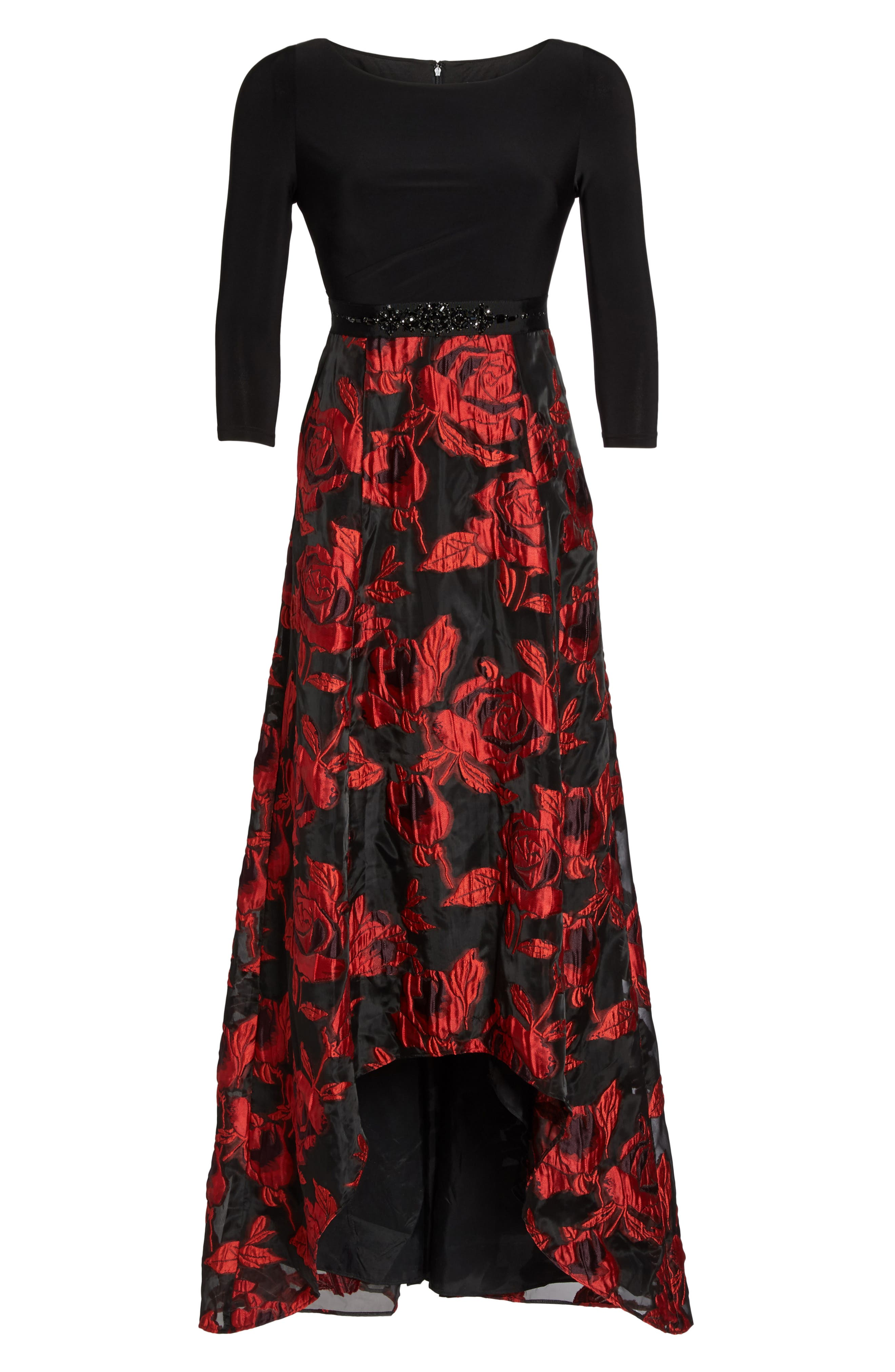 Alternate Image 6  - Adrianna Papell Rose Organza High/Low Maxi Dress