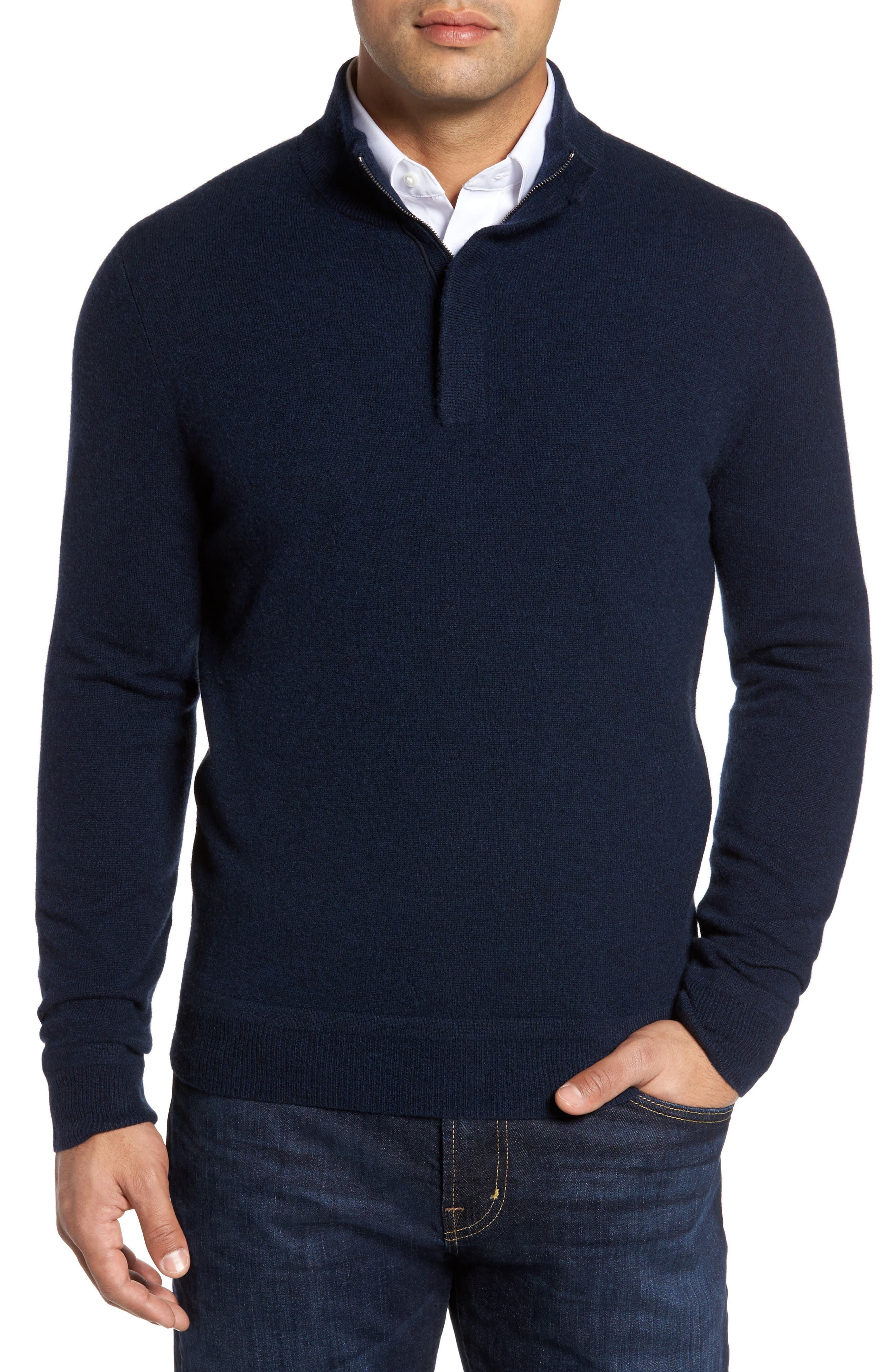 Monte Rosso Cashmere Quarter Zip Sweater