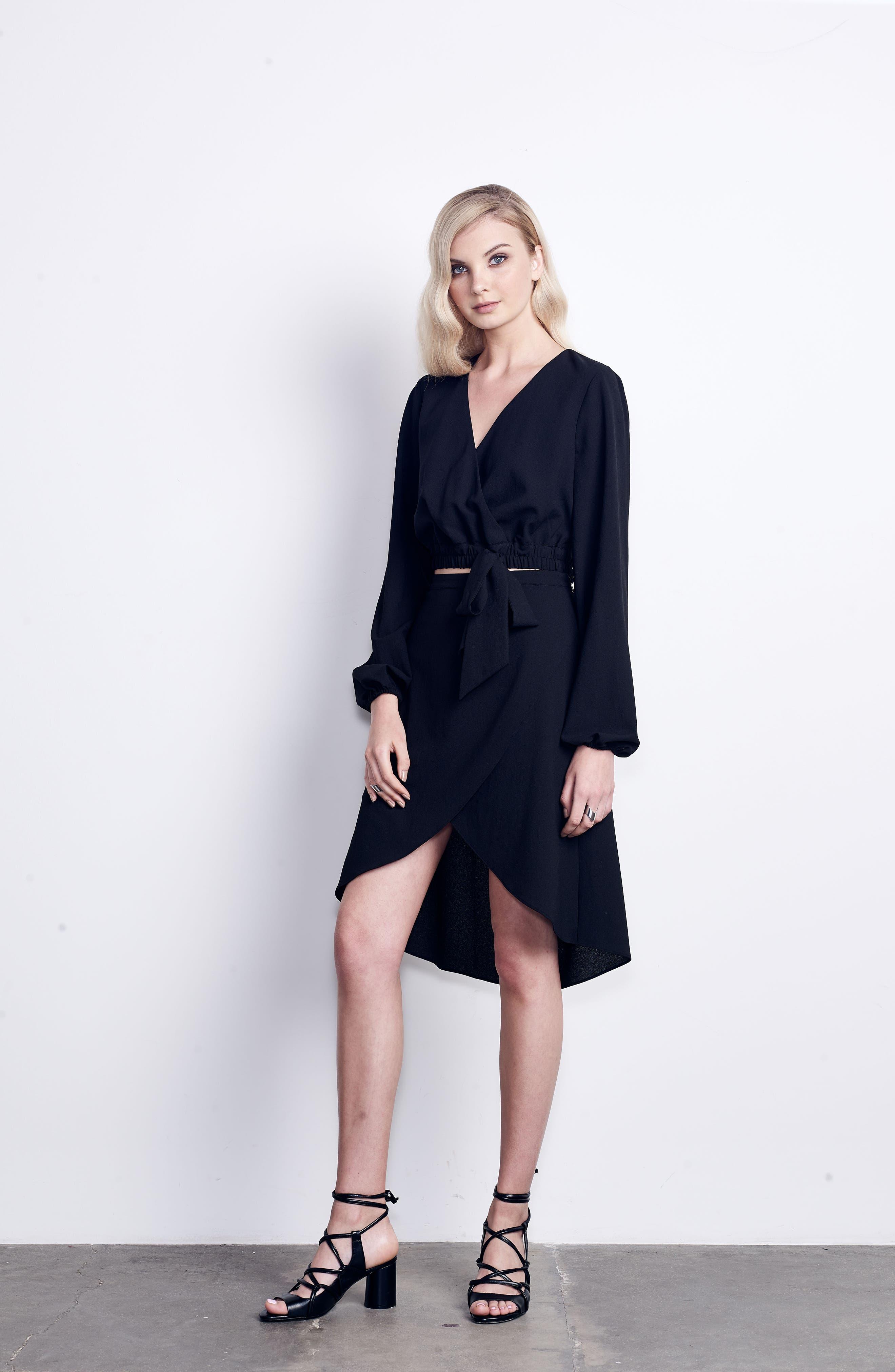 St. Tropez Two-Piece Dress,                             Alternate thumbnail 2, color,                             Black