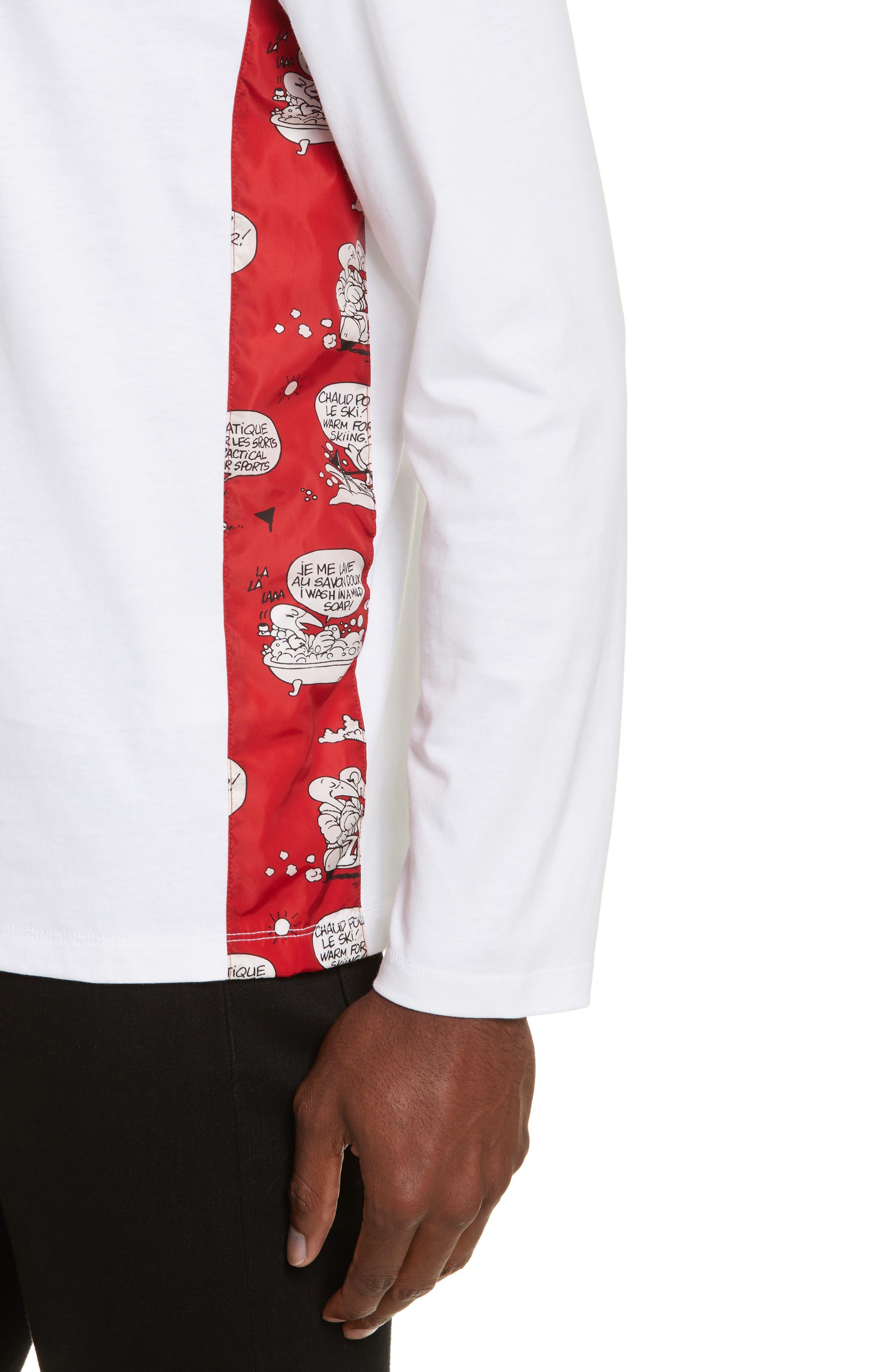 Alternate Image 4  - Moncler Maglia Griccollo Long Sleeve T-Shirt