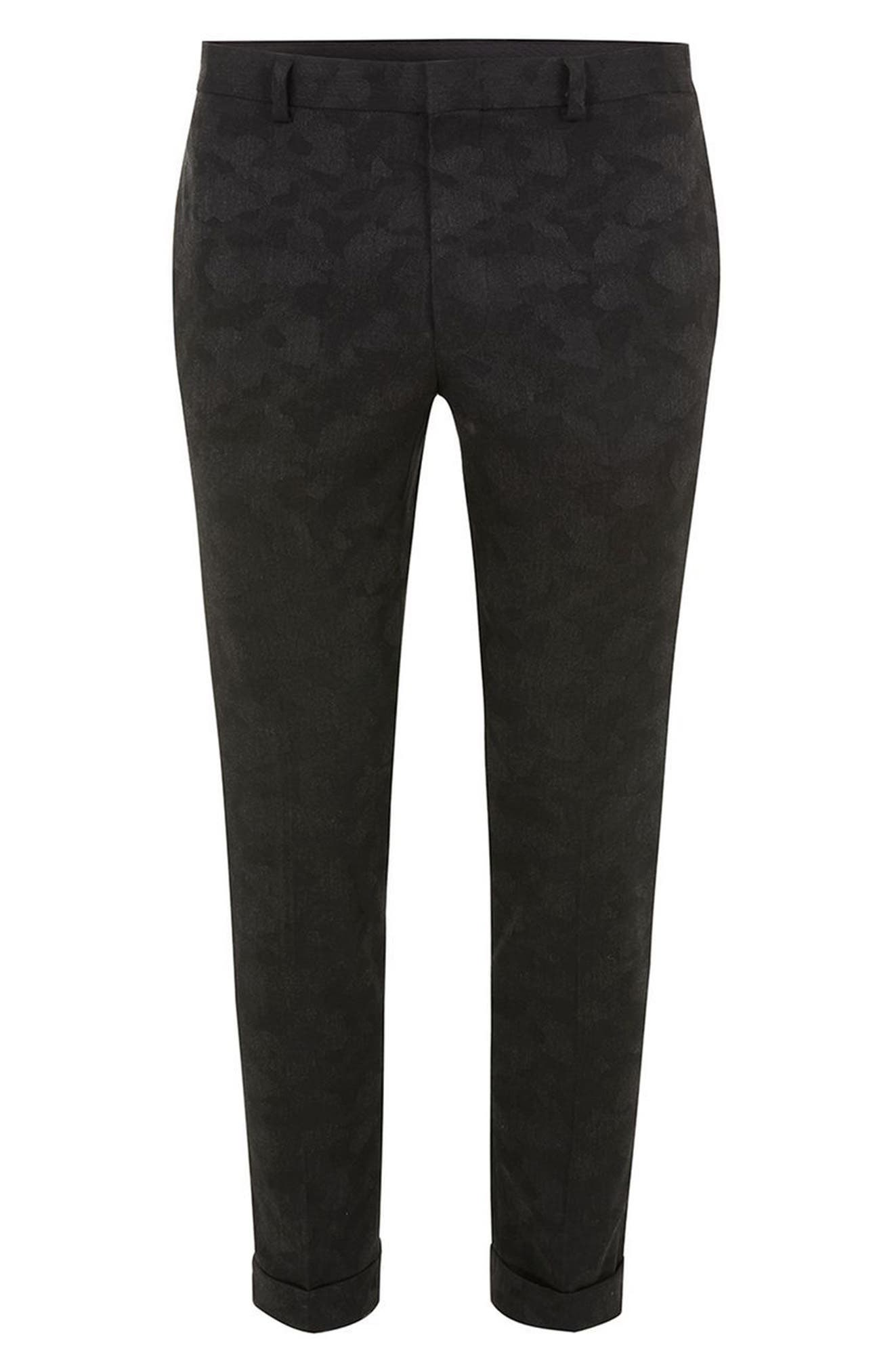 Alternate Image 4  - Topman Shadow Camo Ultra Skinny Suit Trousers