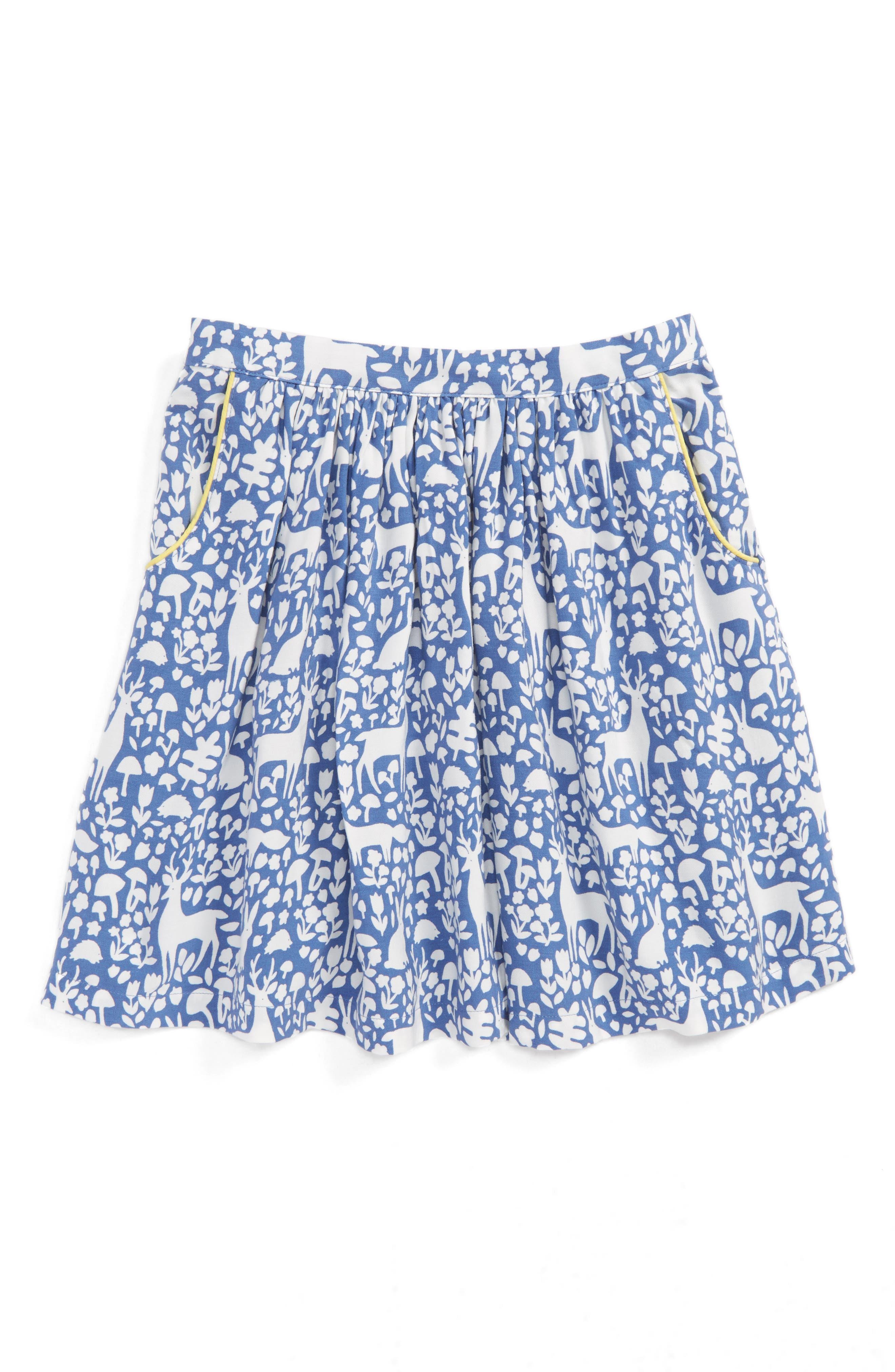 Print Twirly Skirt,                             Main thumbnail 1, color,                             Bluebell