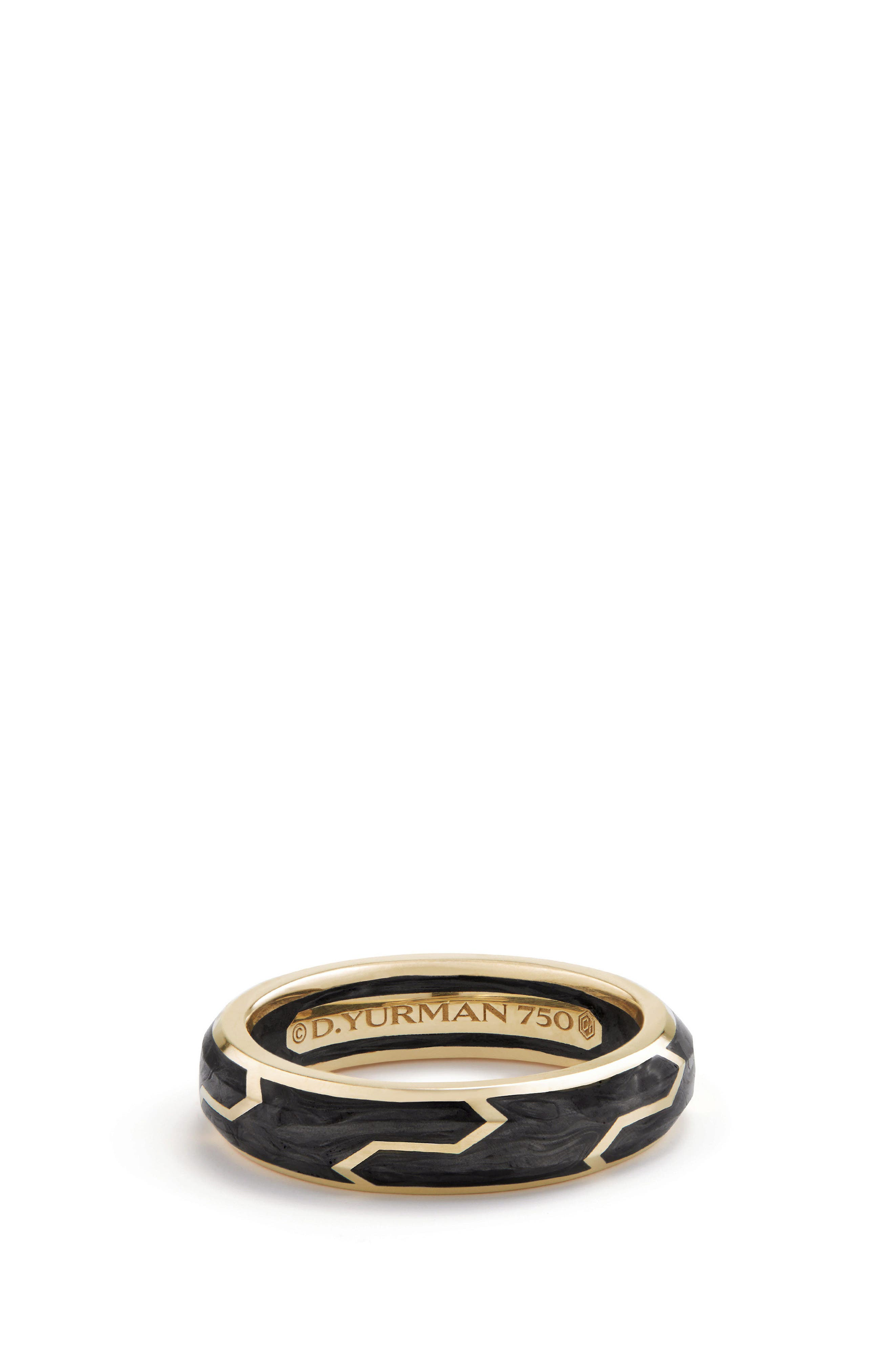 Main Image - David Yurman Forged Carbon Band Ring in 18K Gold, 6mm