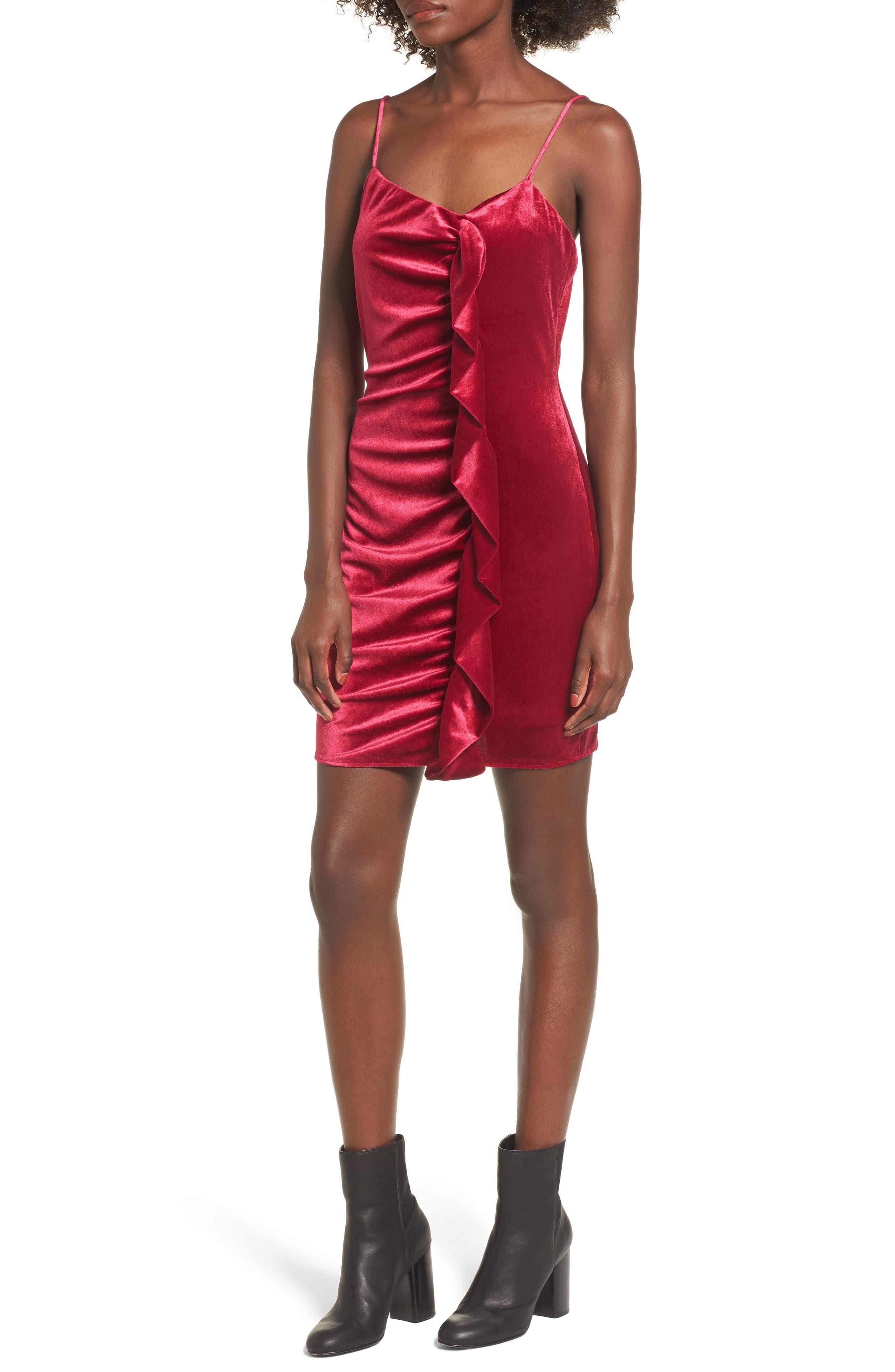 Grace Velvet Sheath Dress,                             Main thumbnail 1, color,                             Vivacious