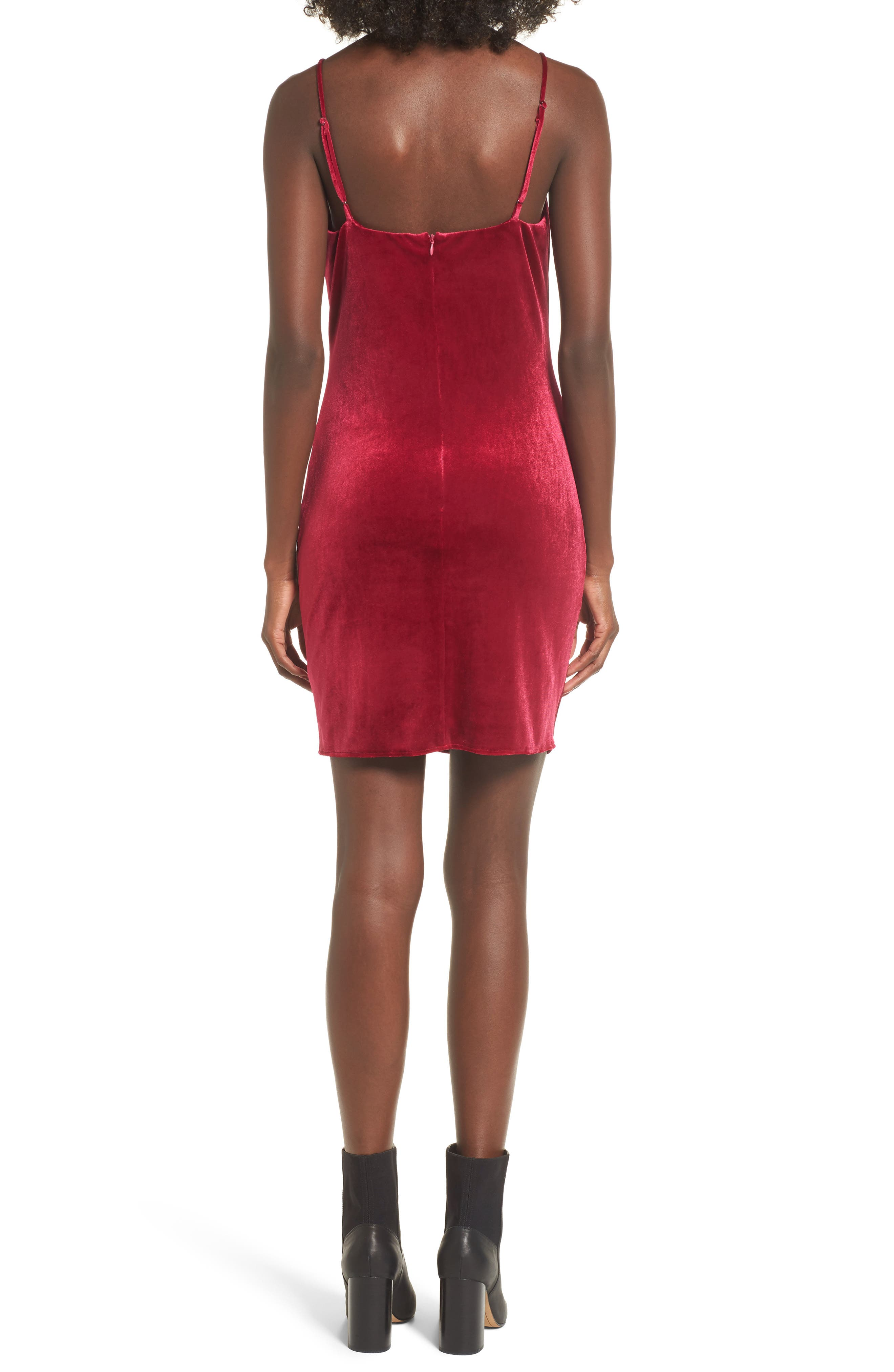 Grace Velvet Sheath Dress,                             Alternate thumbnail 2, color,                             Vivacious