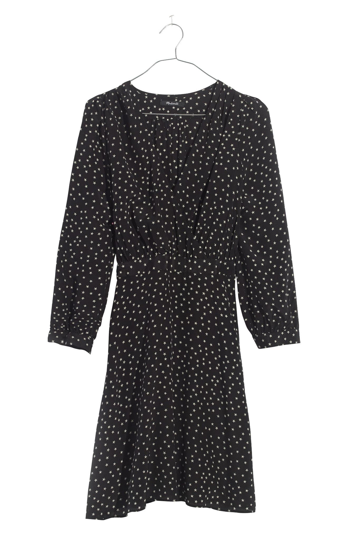 Alternate Image 4  - Madewell Star Print Silk A-Line Dress
