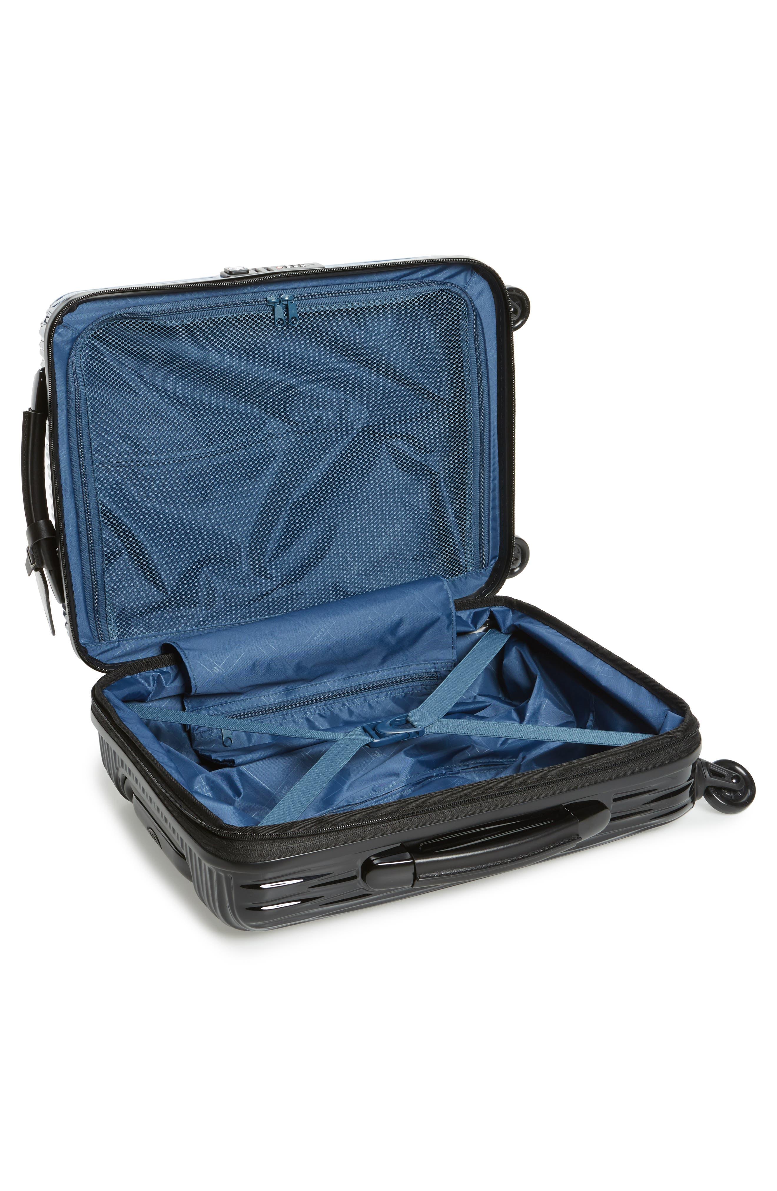 Ruban 22-Inch Four-Wheel Hard Shell Suitcase,                             Alternate thumbnail 2, color,                             Blk/ Pilblue