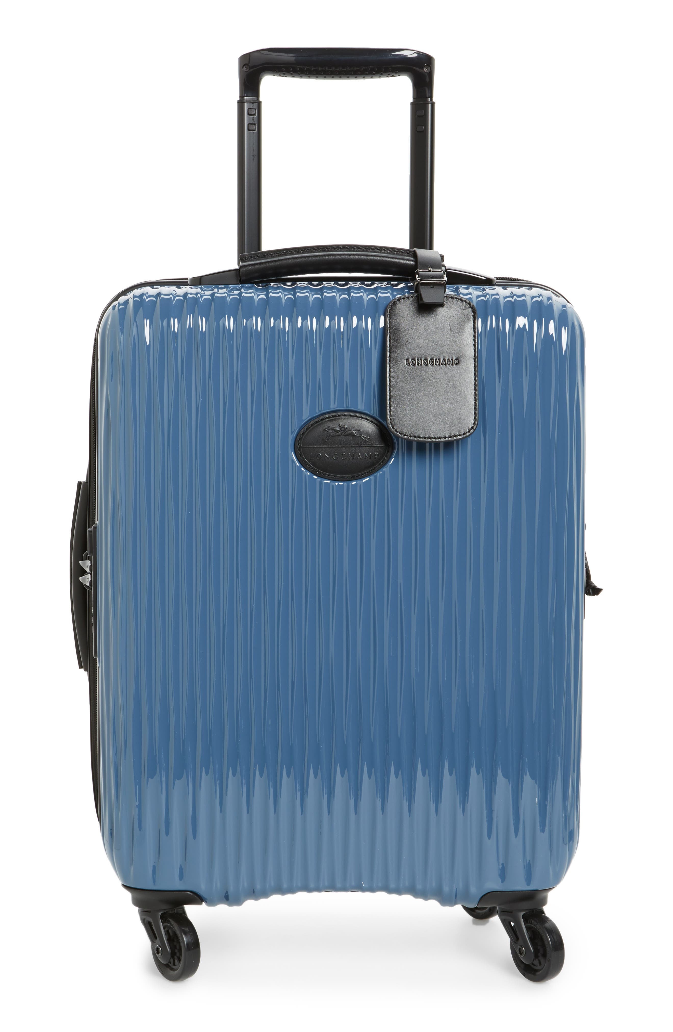 Ruban 22-Inch Four-Wheel Hard Shell Suitcase,                             Main thumbnail 1, color,                             Blk/ Pilblue