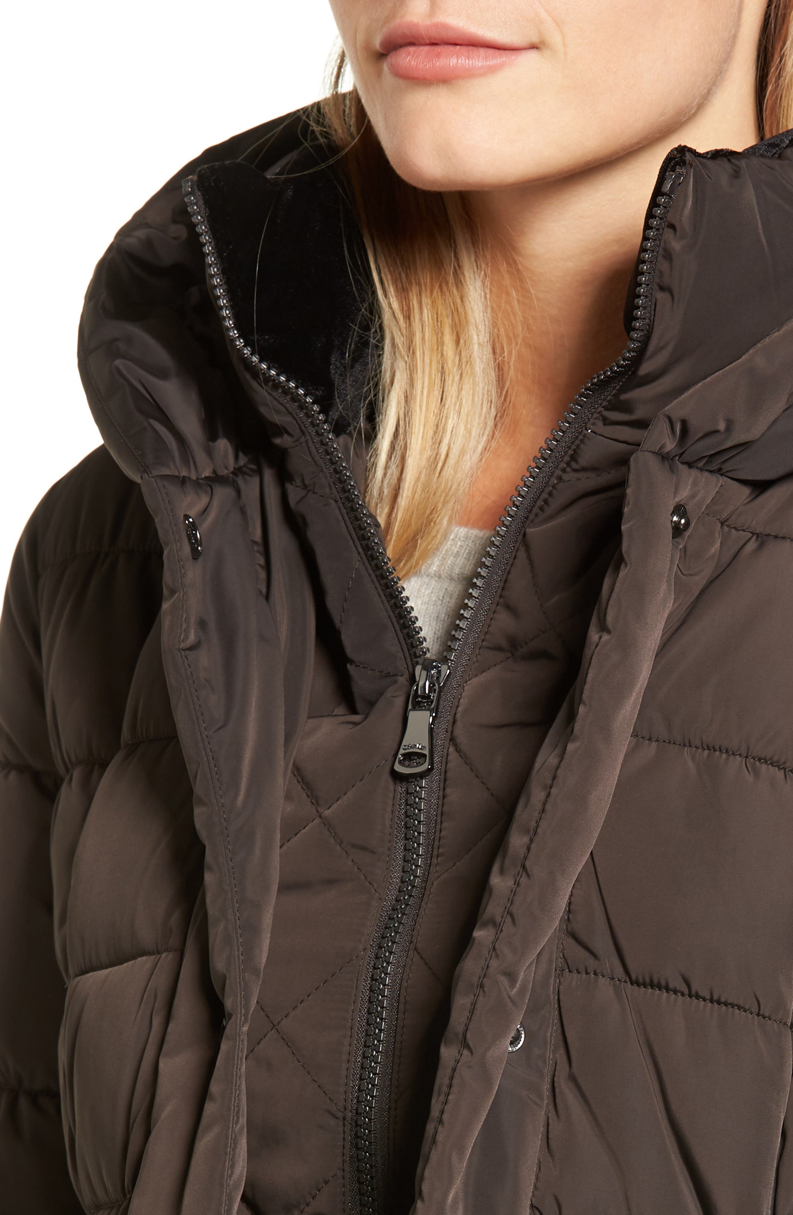 Alternate Image 4  - Calvin Klein Quilted Down Coat with Vest Inset