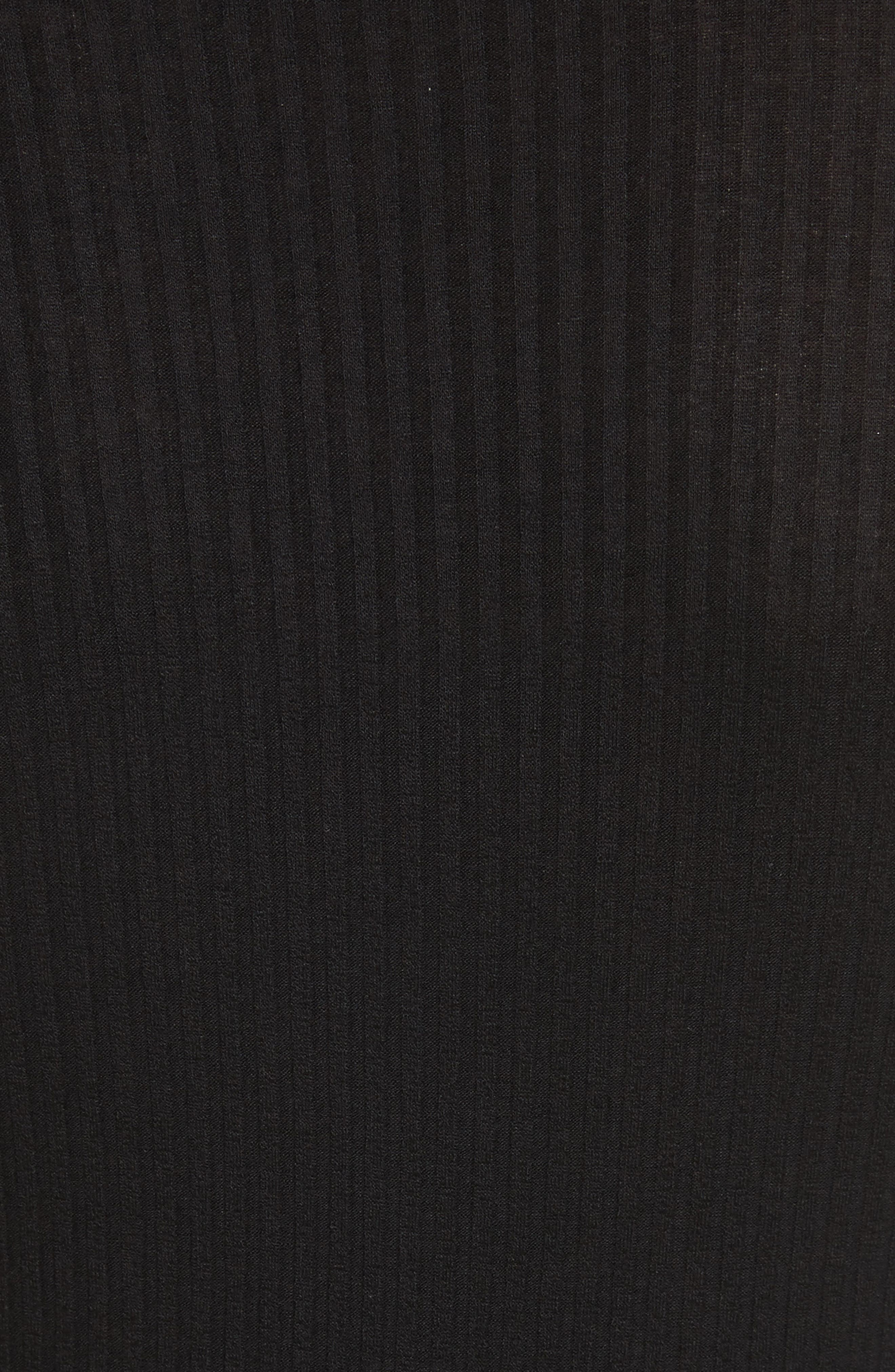 Rooney Cutout Dress,                             Alternate thumbnail 5, color,                             Black