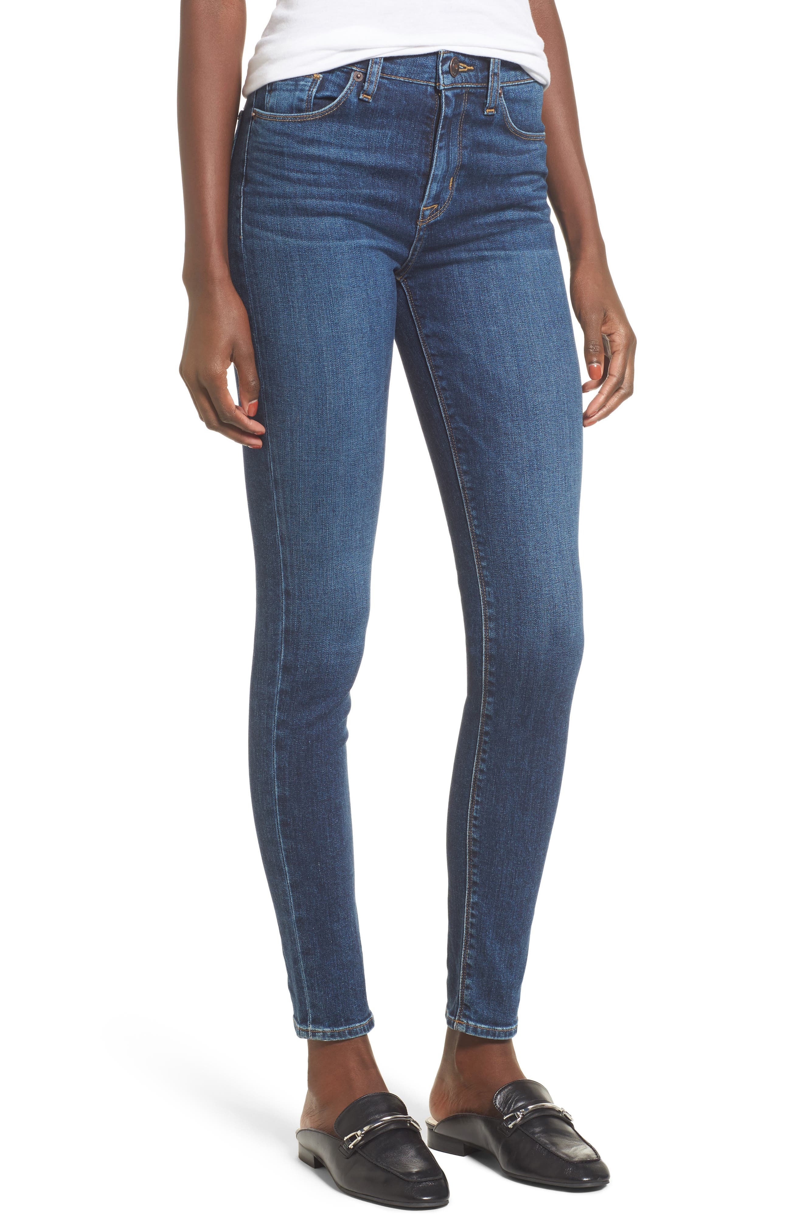 Barbara High Waist Super Skinny Jeans,                         Main,                         color, Realism