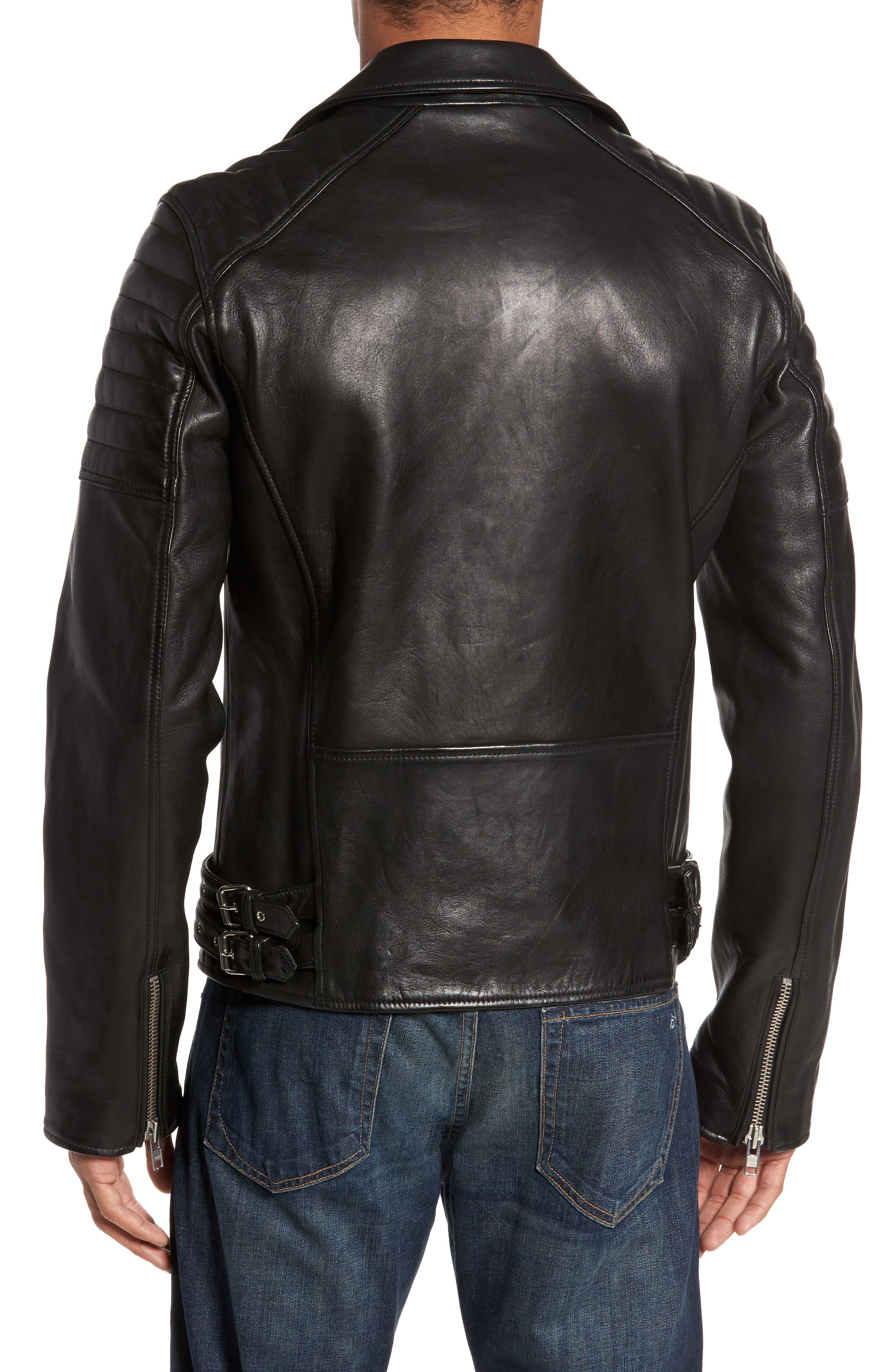 Alternate Image 2  - LAMARQUE Leather Biker Jacket
