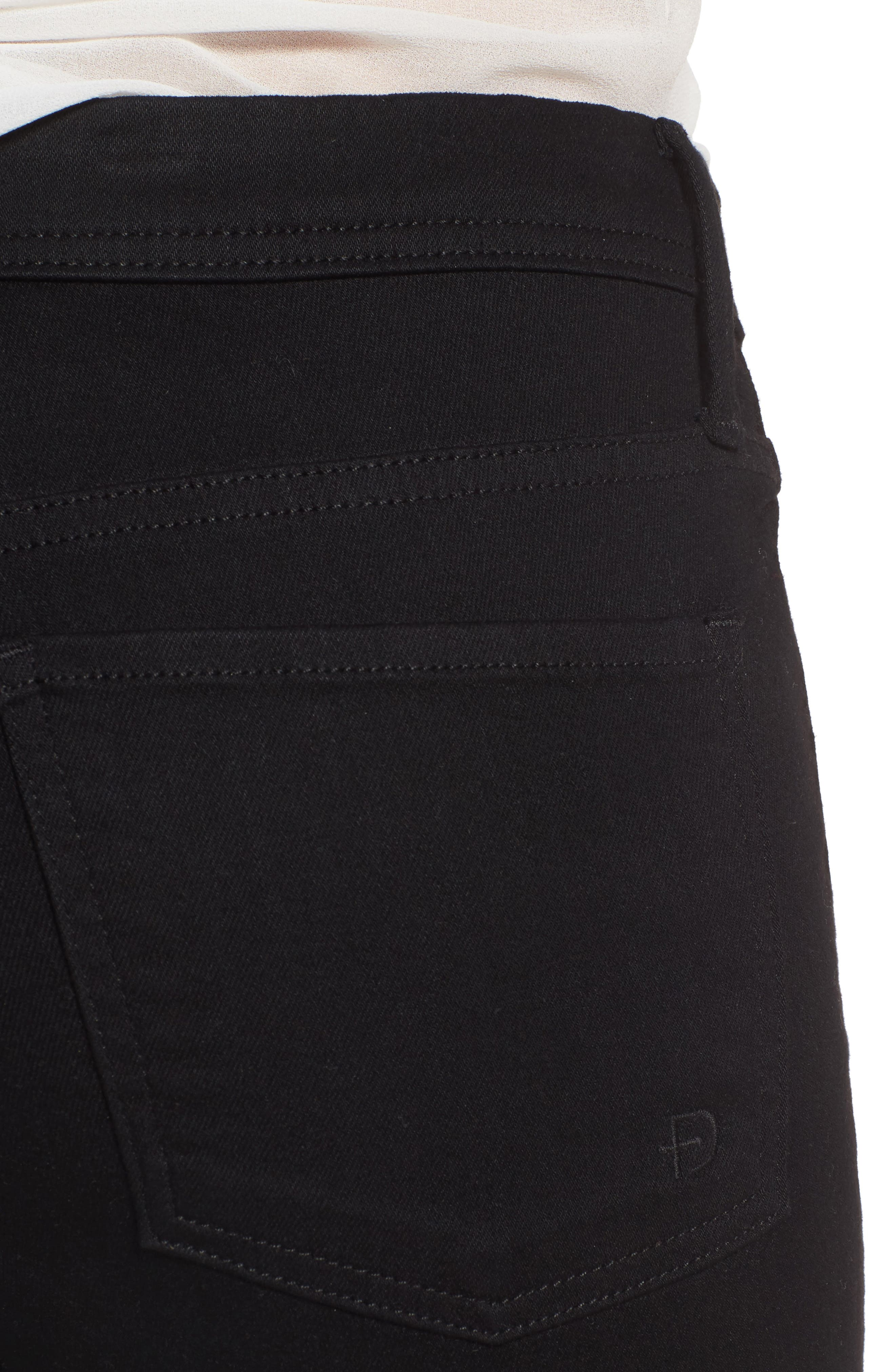 Belvedere Skinny Jeans,                             Alternate thumbnail 4, color,                             Jett Black