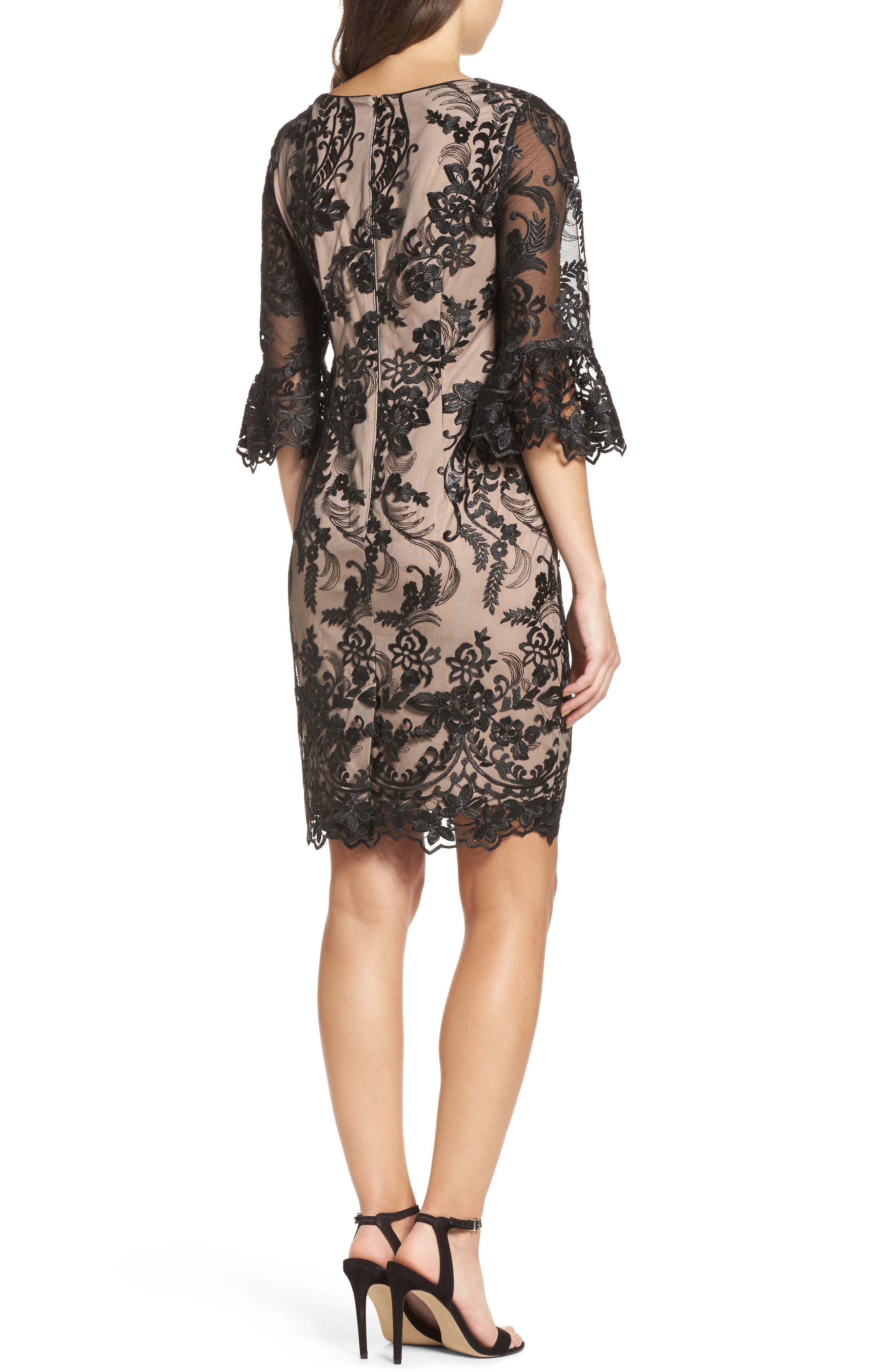 Eillen Embroidered Lace Dress,                             Alternate thumbnail 2, color,                             Black/ Bisque