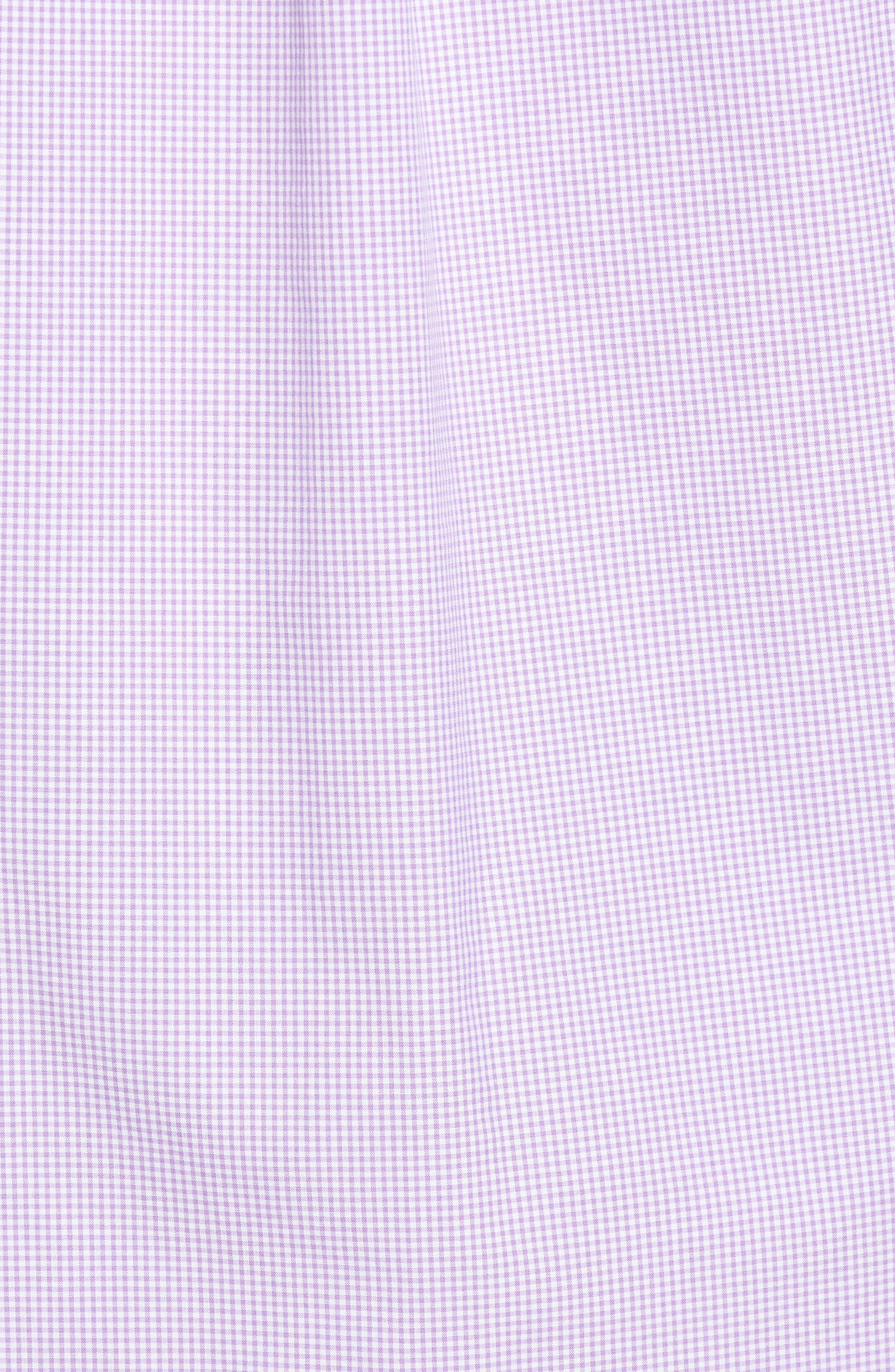 Seaboard Classic Fit Gingham Sport Shirt,                             Alternate thumbnail 5, color,                             Sea Urchin