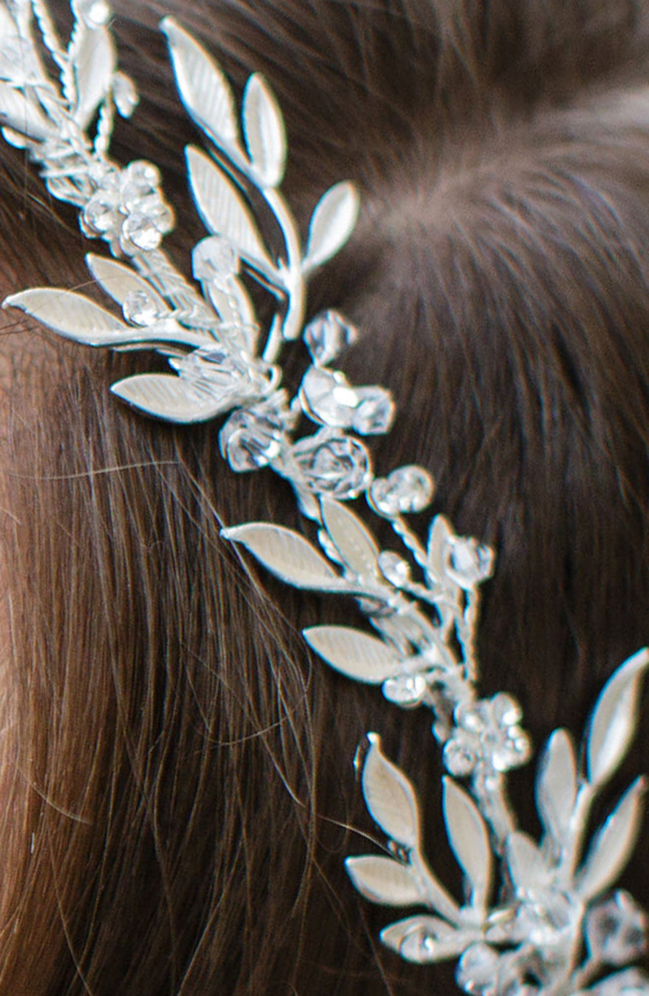 Alternate Image 2  - Brides & Hairpins 'Avalon' Leaf Halo & Sash